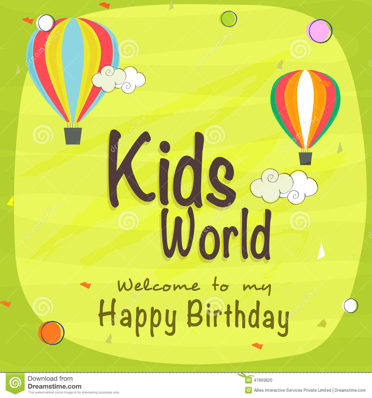 Kids birthday celebration invitation card stock illustration kids birthday celebration invitation card filmwisefo