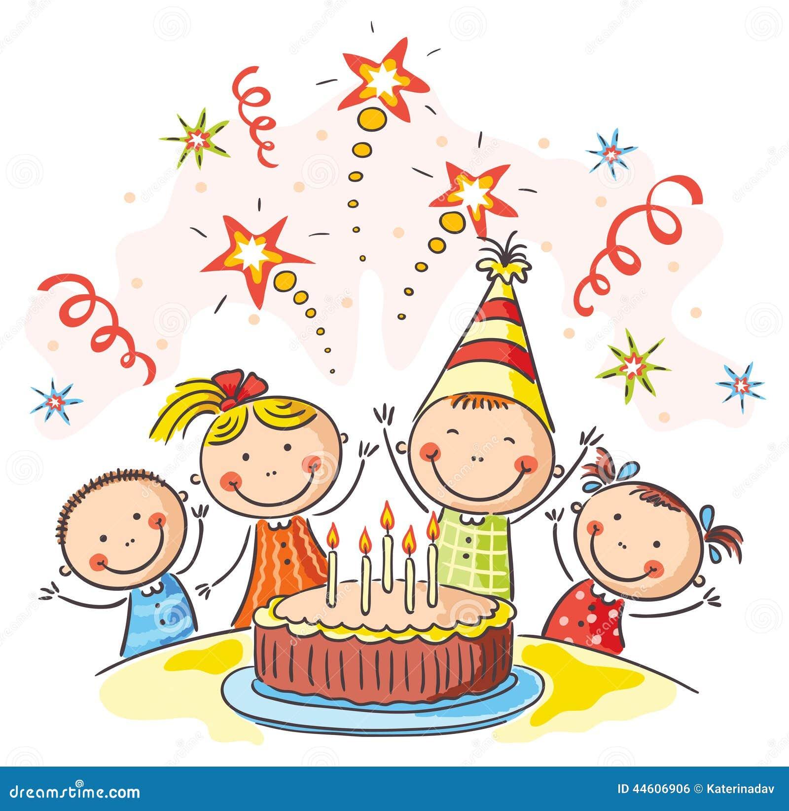 Kids Birthday Party Stock Vector Image Of Birthday Happy