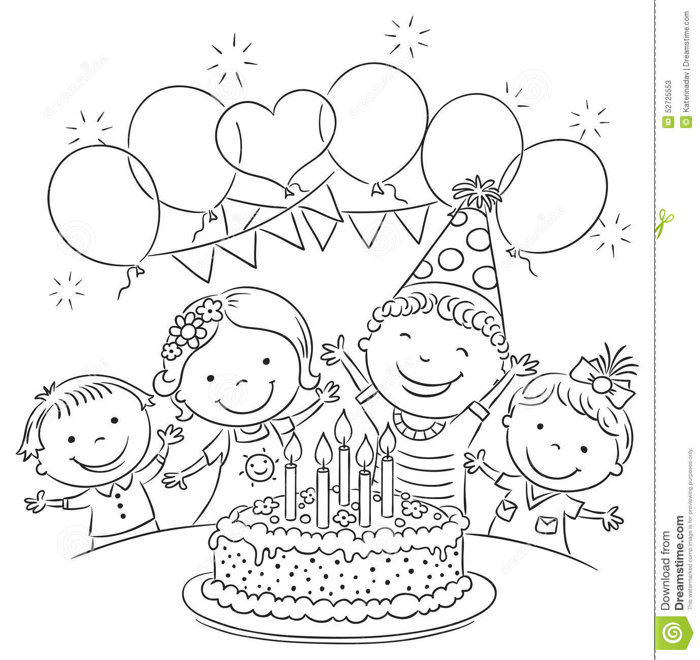 birthday images black and white