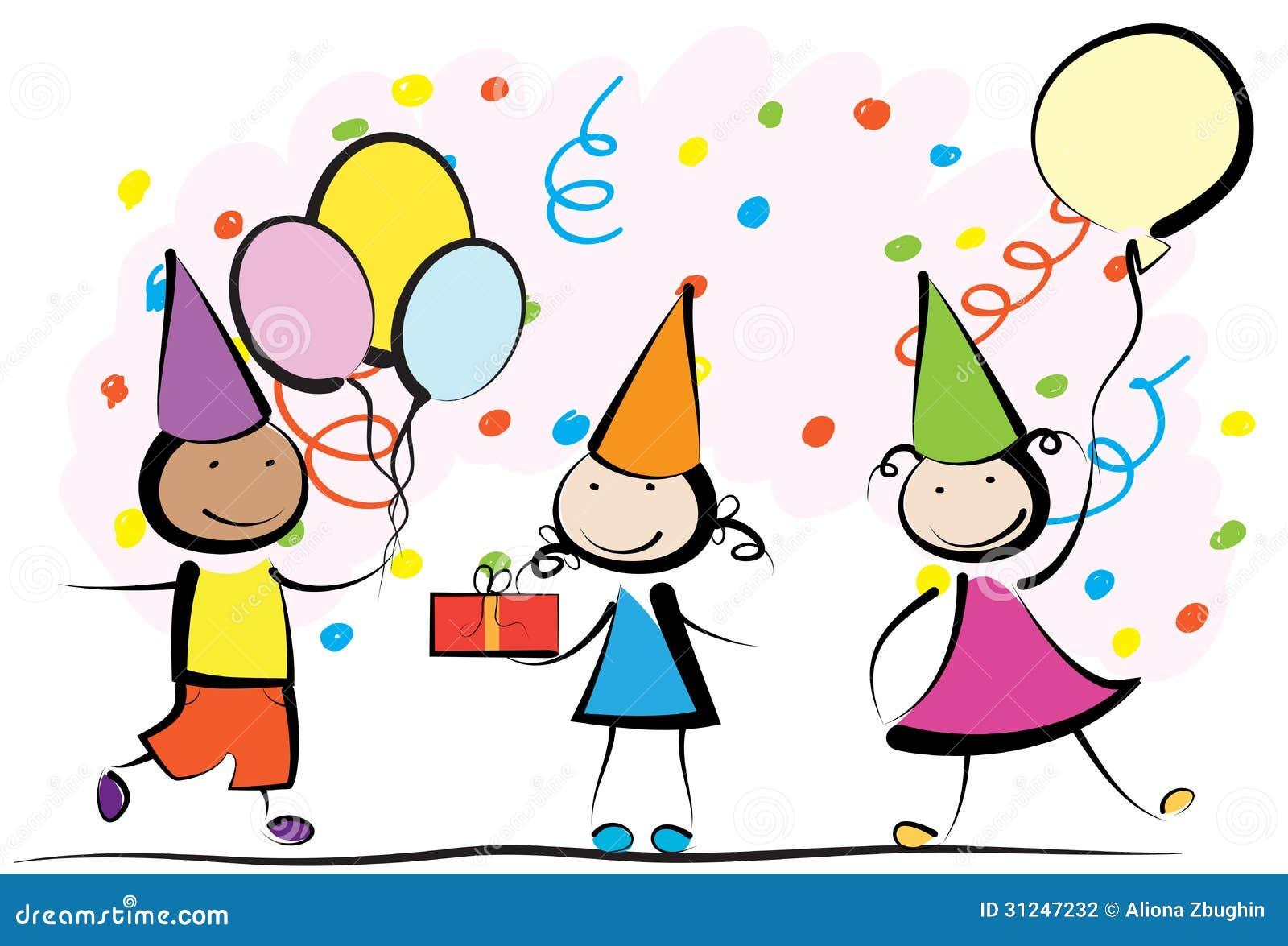 Kids birthday stock vector. Illustration of friends, birthday - 31247232