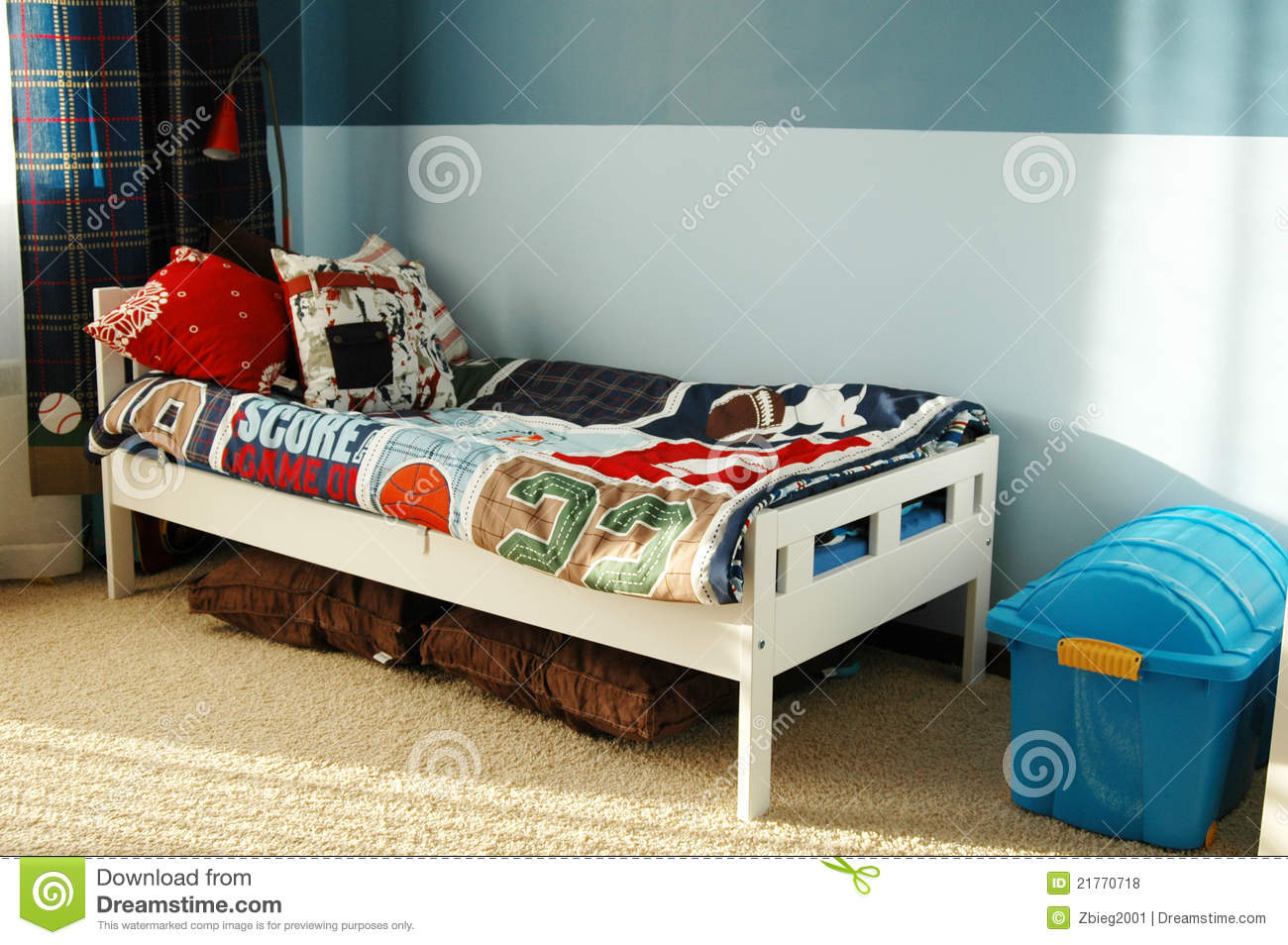 Kids Blue Bedroom Royalty Free Stock Photos Image 21770718