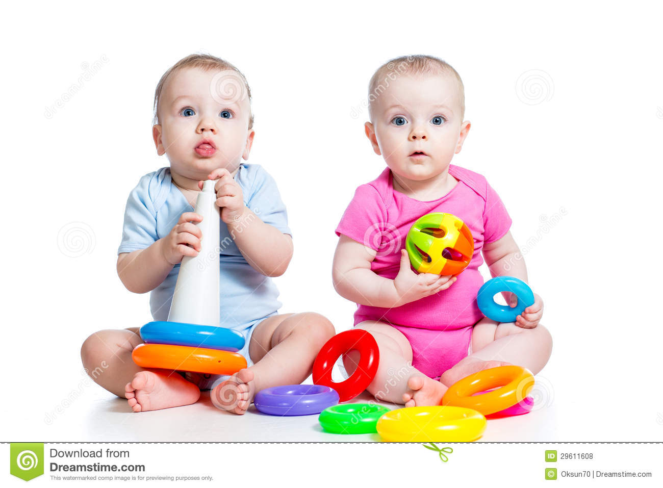 Toddler Toys Photography : Kids boy and girl play toys together stock photo image