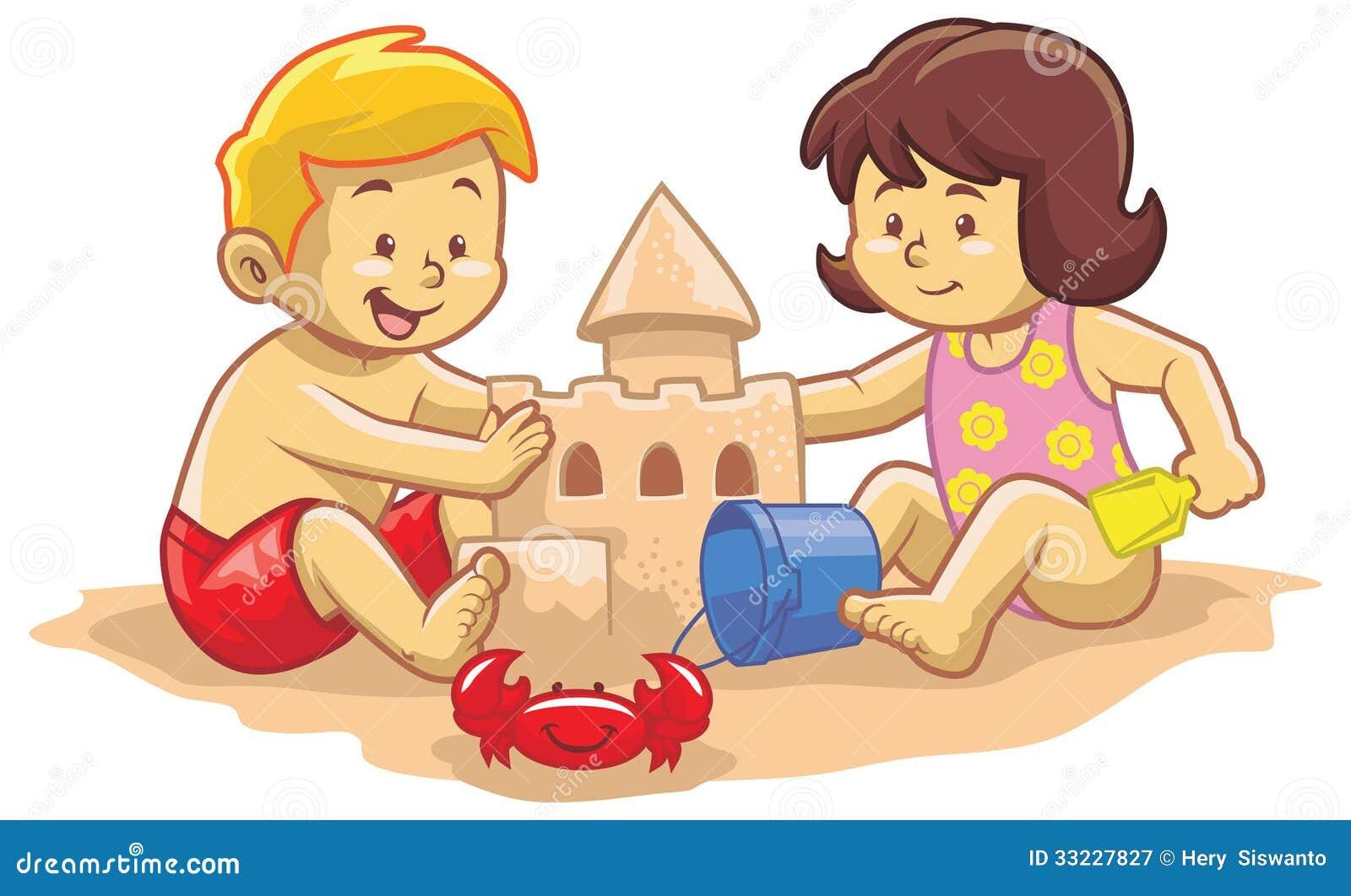 kids build sand castle royalty free stock photography image 33227827 clipart nurse logos clip art nurses cap