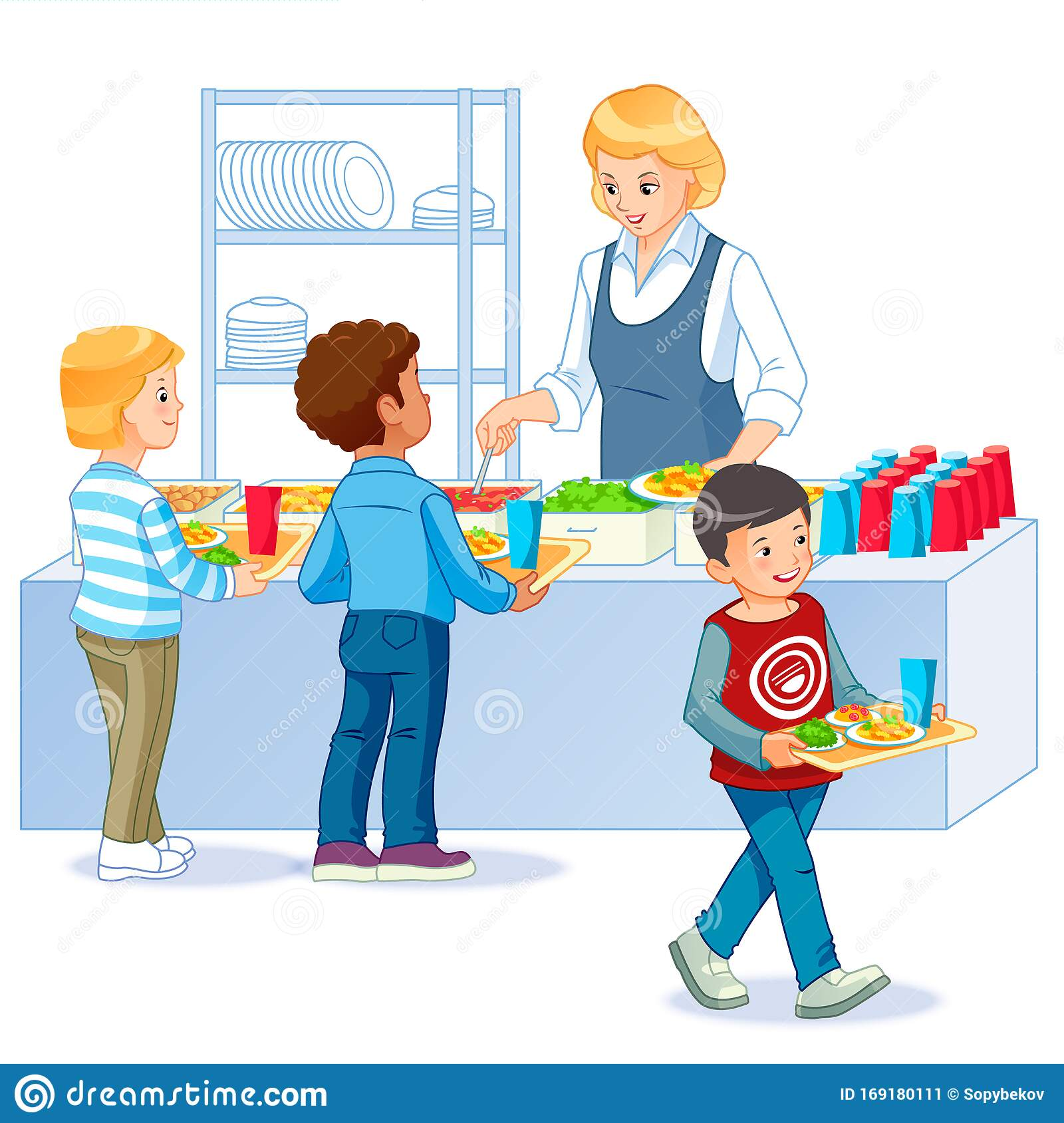 Canteen Buying Stock Illustrations 27 Canteen Buying Stock Illustrations Vectors Clipart Dreamstime