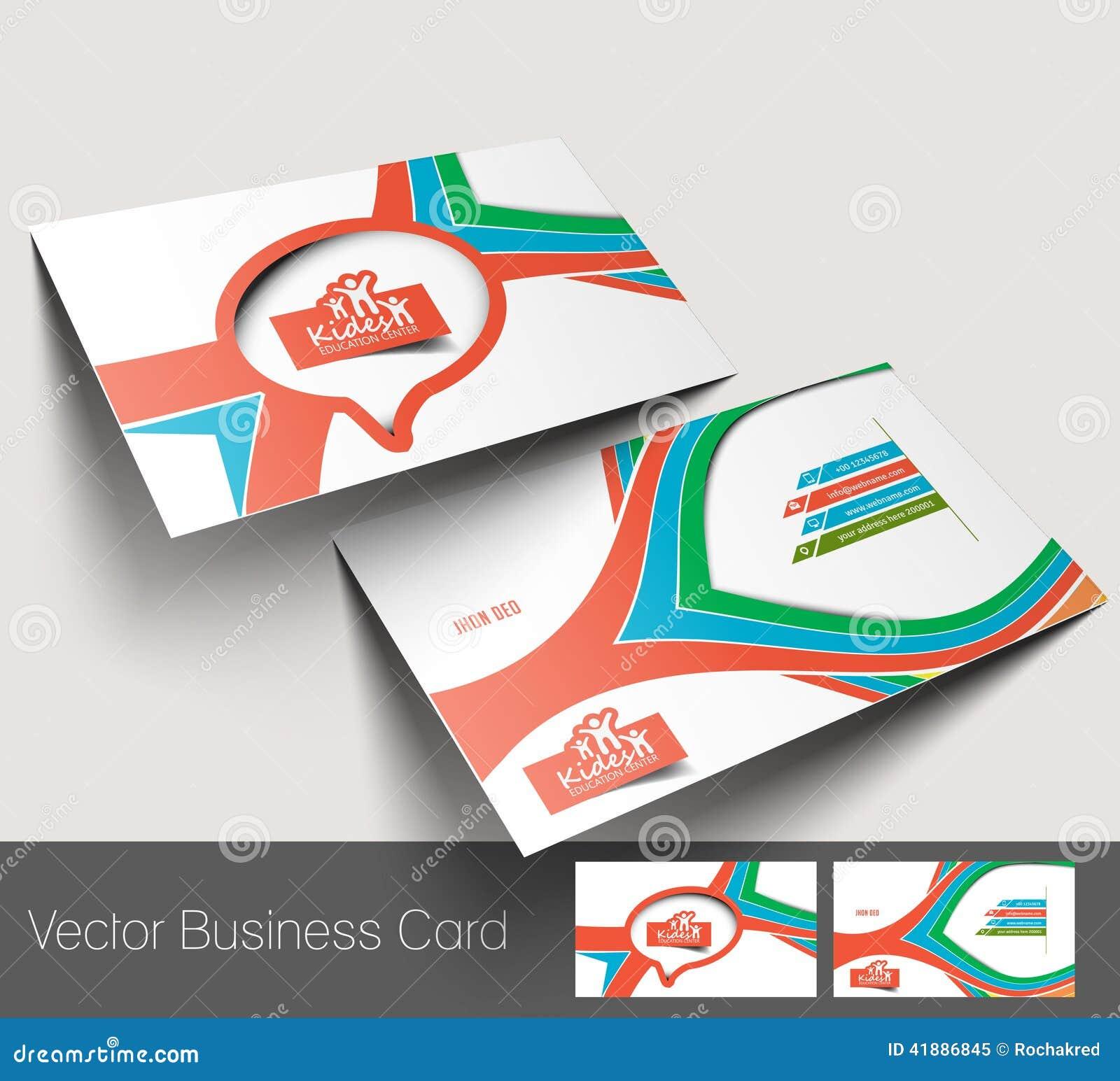 Kids Care business card stock vector. Illustration of businessman ...