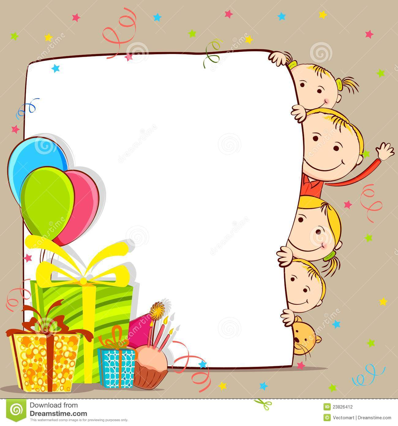 Kids celebrating birthday stock vector illustration of fathers kids celebrating birthday bookmarktalkfo Image collections