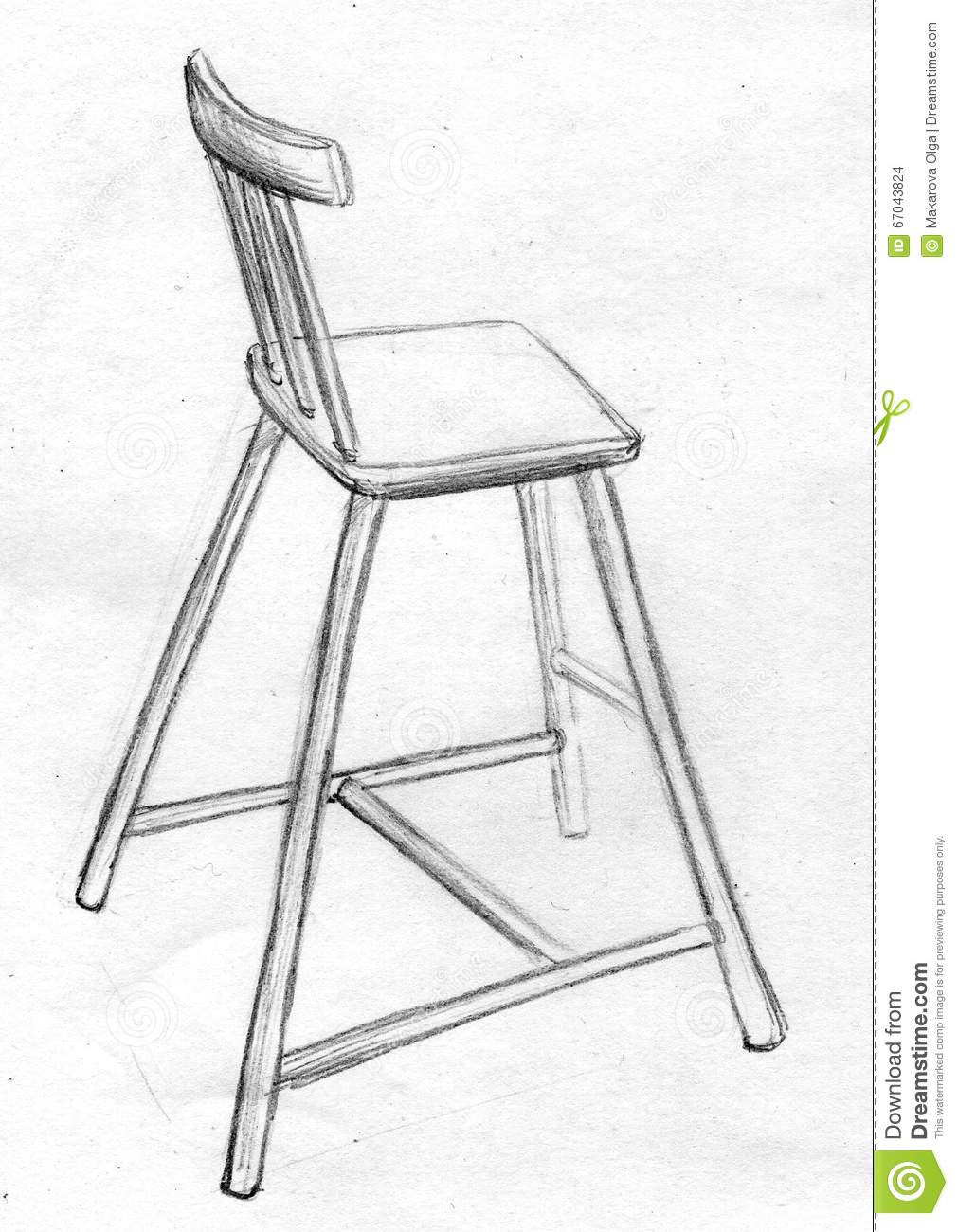 Chair drawing for kids - Kids Chair Pencil Sketch Stock Illustration Image 67043824