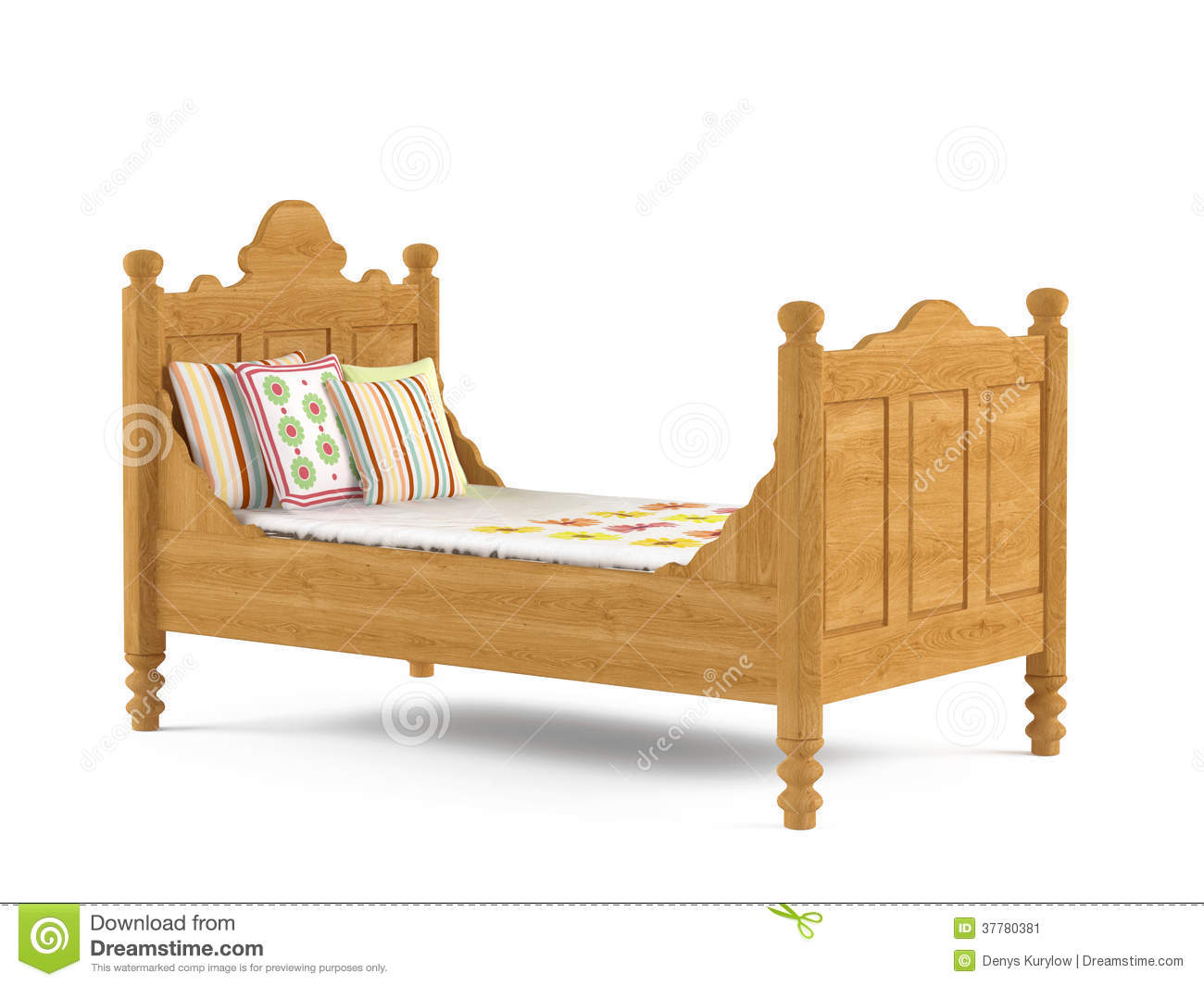 Kids Child Bed Isolated Stock Image