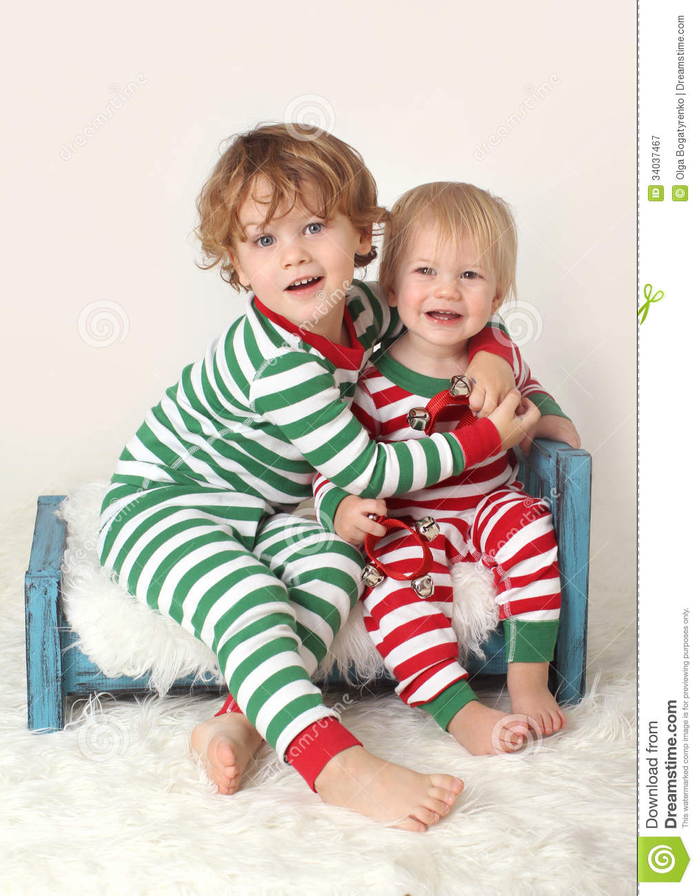 Kids Children In Christmas Outfits Royalty Free Stock