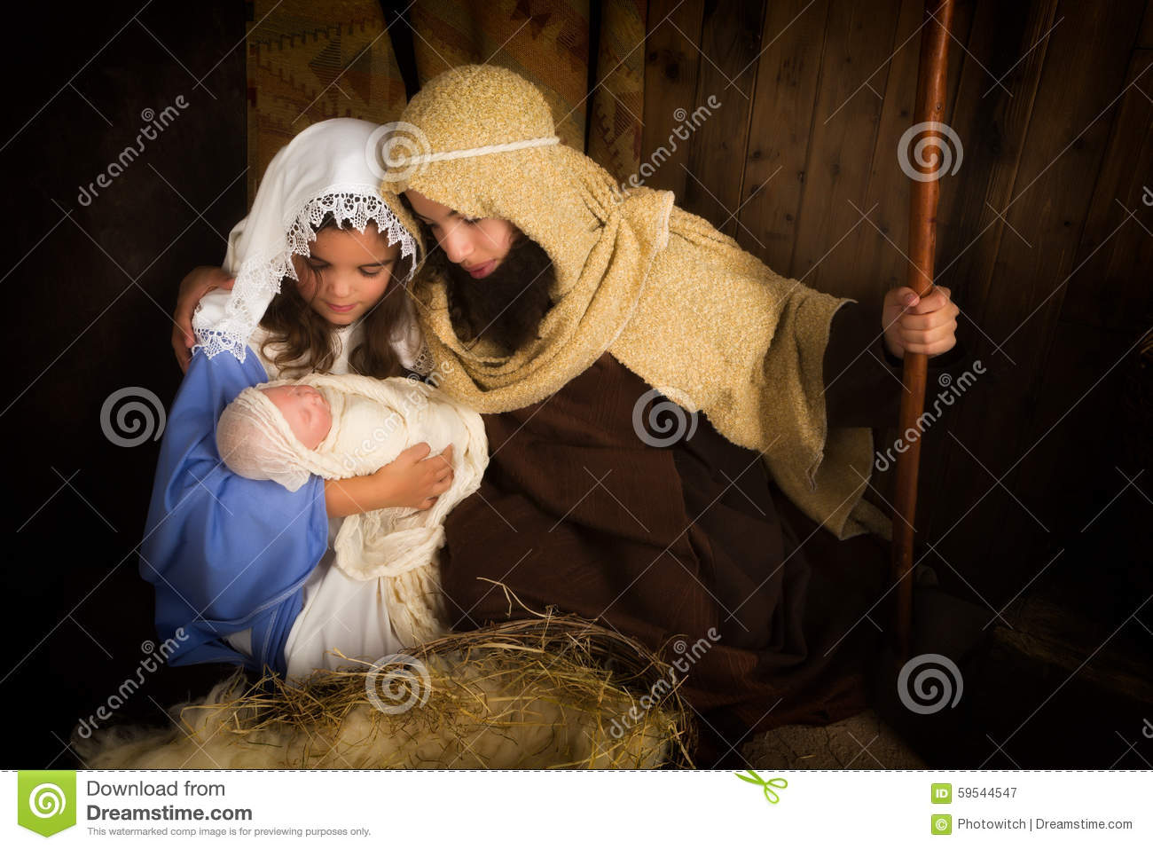 Kids christmas play stock image. Image of father, christian - 59544547