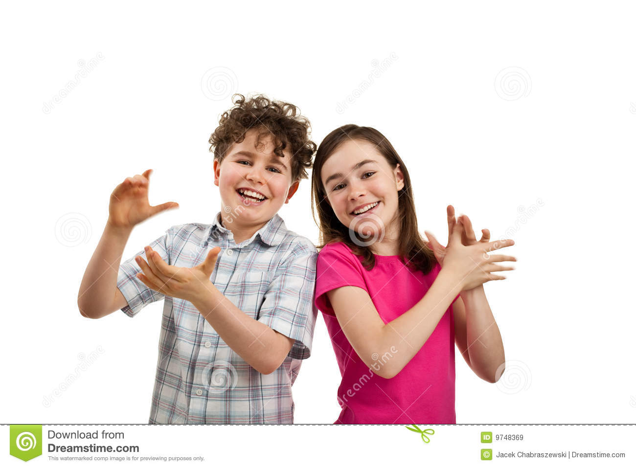 Kids clapping