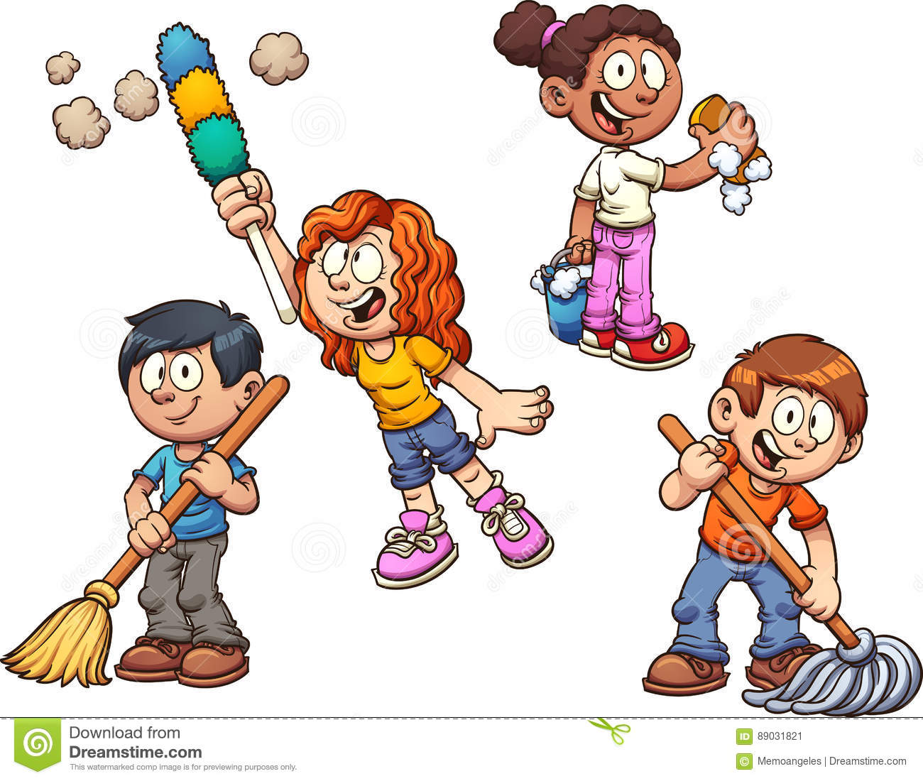 Cleaning Cartoons, Illustrations & Vector Stock Images ...