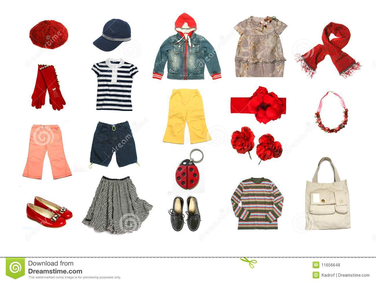 Kids Clothes And Accessories Set Stock Photo - Image: 11656648