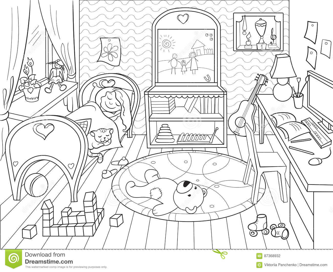Kids Coloring On The Theme Of Childhood