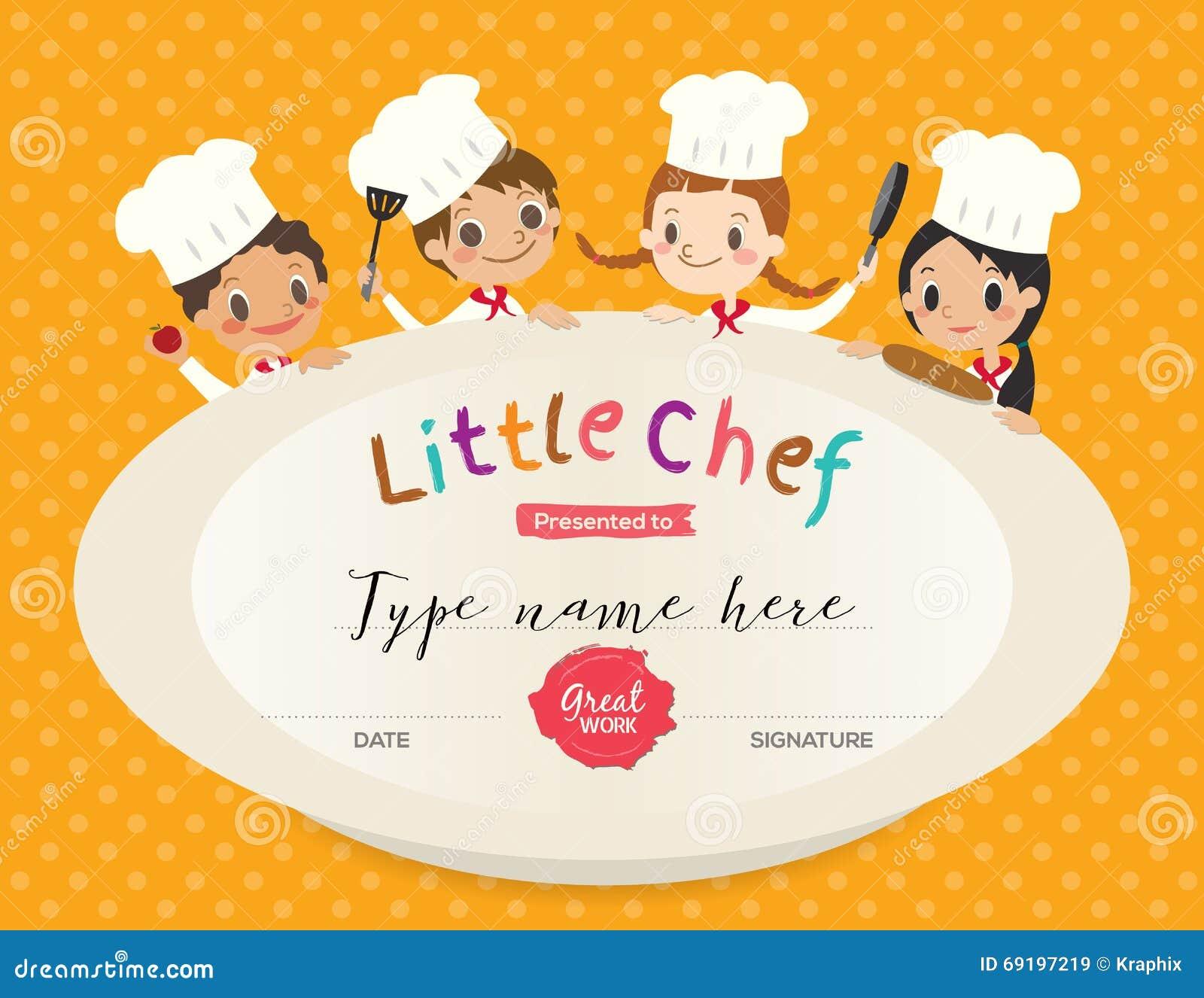 cooking certificate template – Certificate Design Format