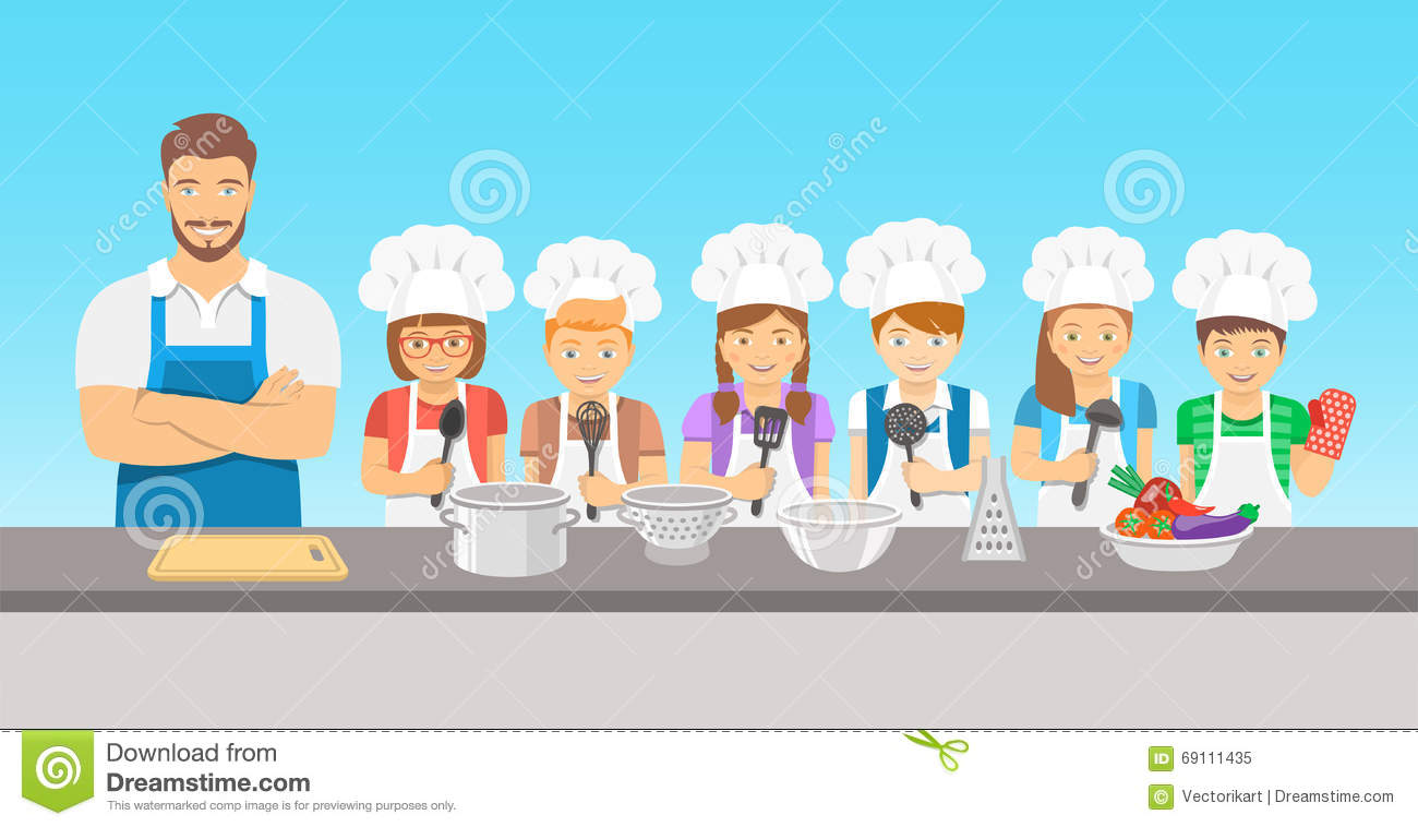 Kids Cooking Stock Illustrations – 3,526 Kids Cooking Stock ...