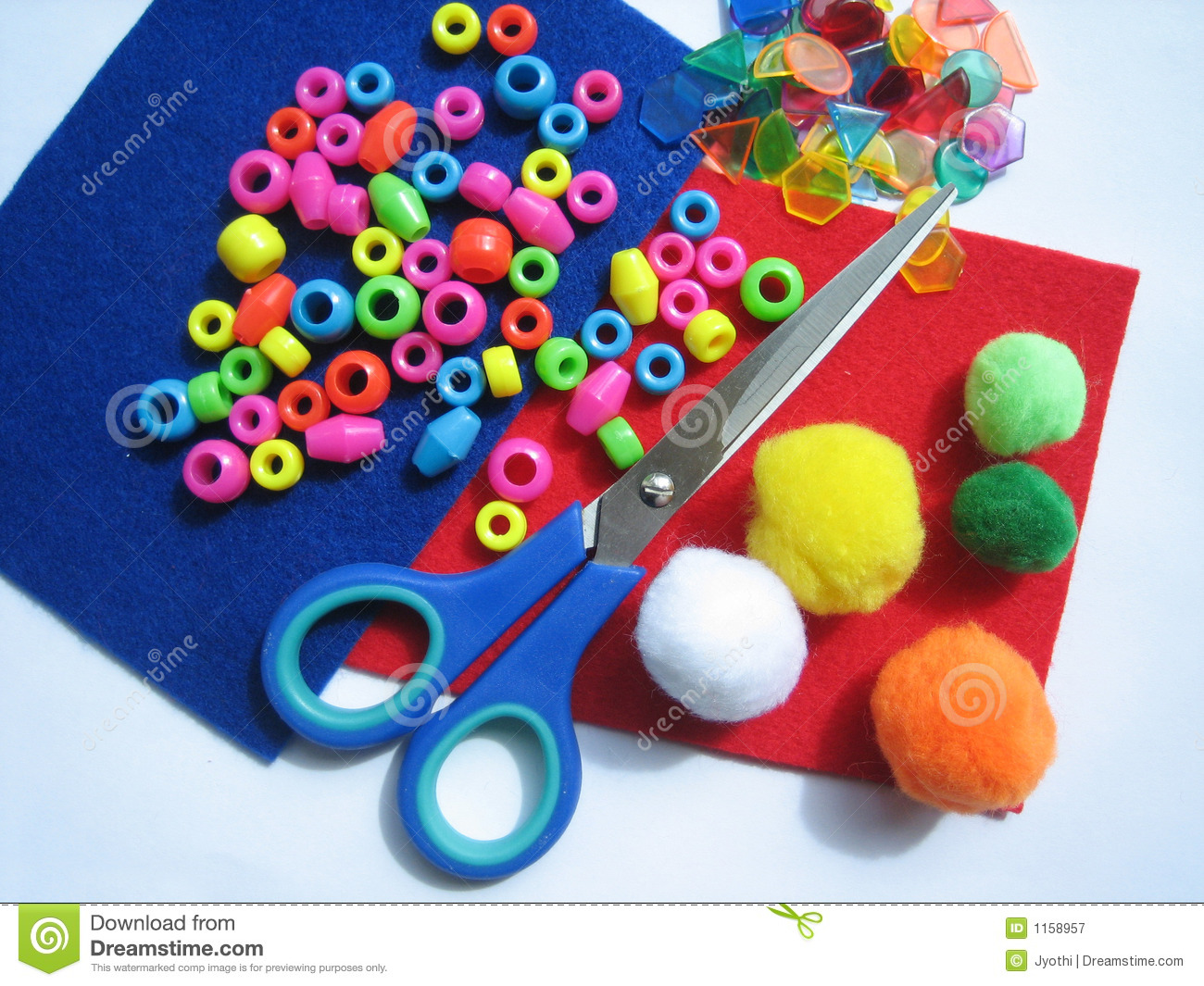 Kids craft items stock image. Image of woolen, green, children  1158957