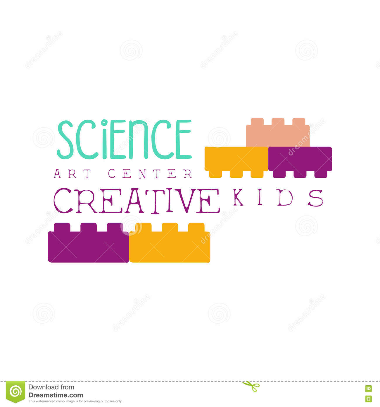 kids creative class template promotional logo with constructor