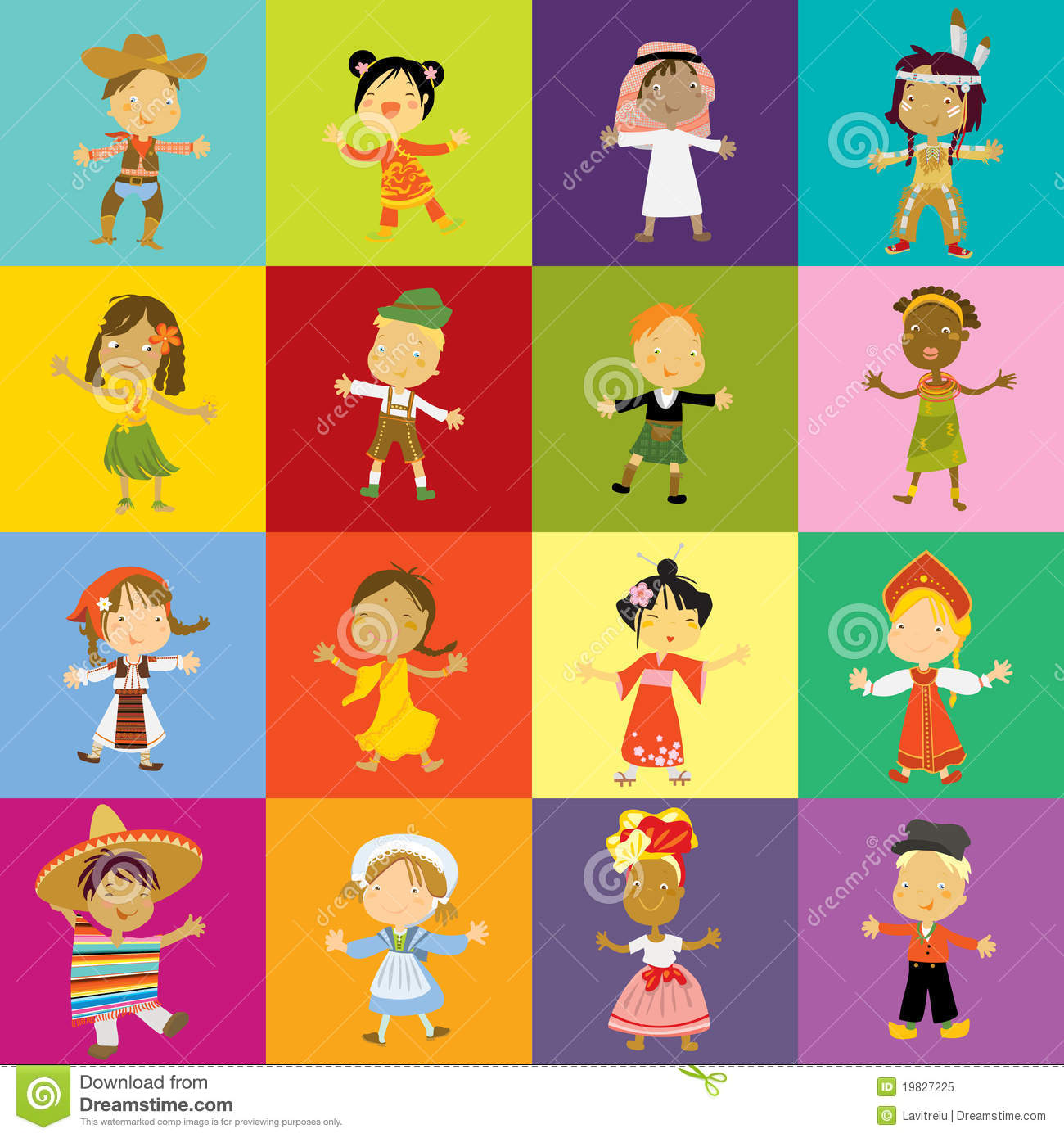 Kids Cultural Diversity Royalty Free Stock Photo - Image: 19827225