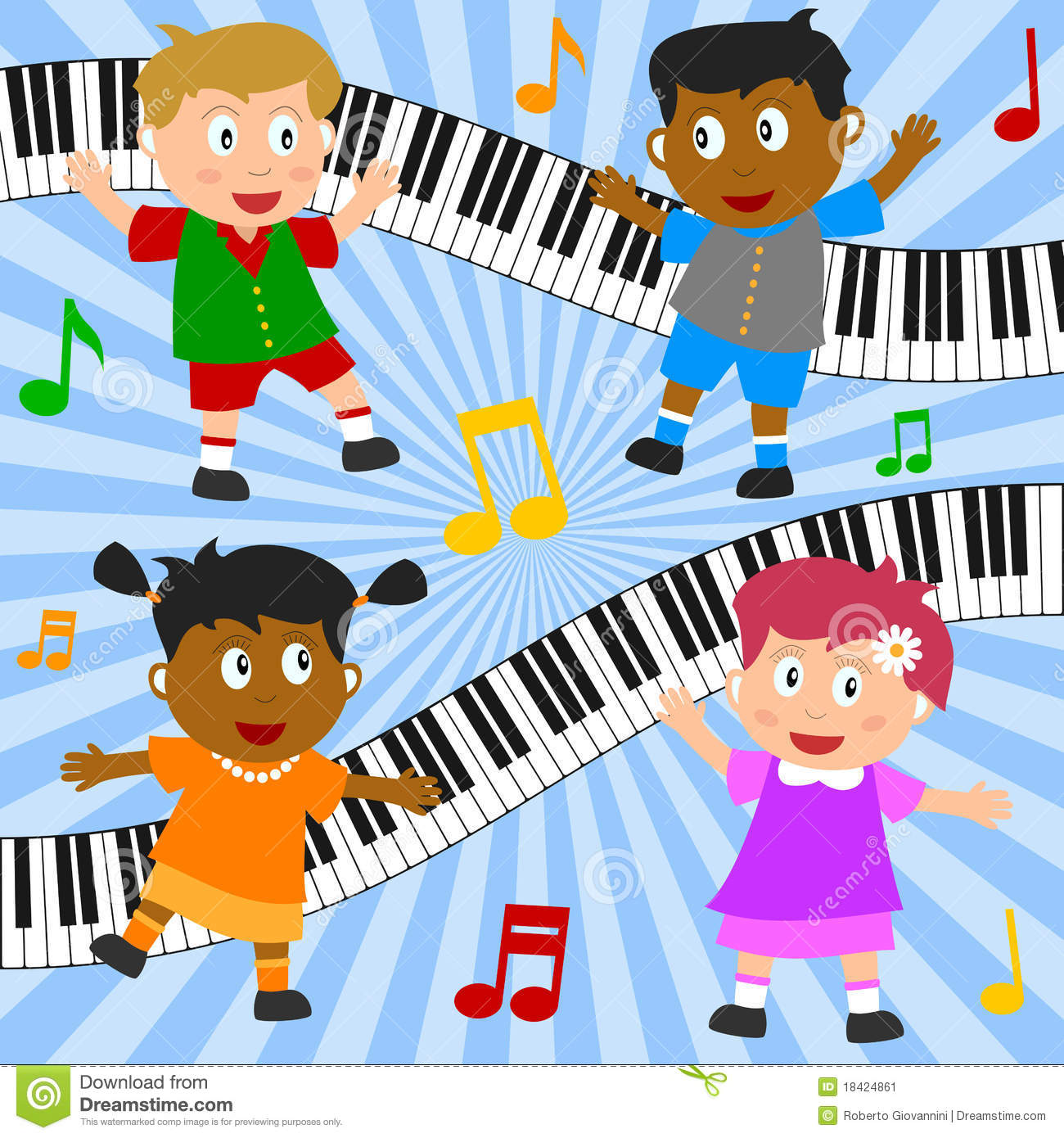 Dancing Kids Stock Image - Image: 666191