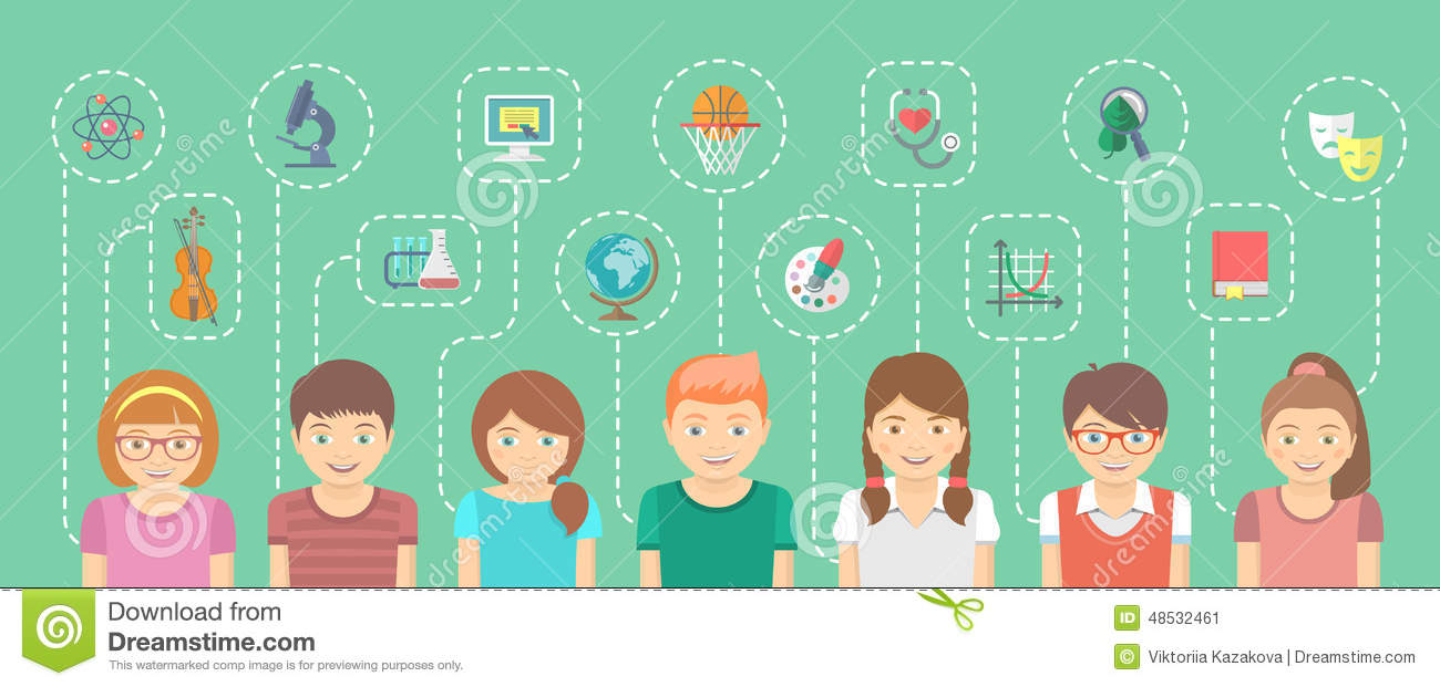 kids with different interests stock vector image 48532461 clipart children playing sign clip art children playing sports