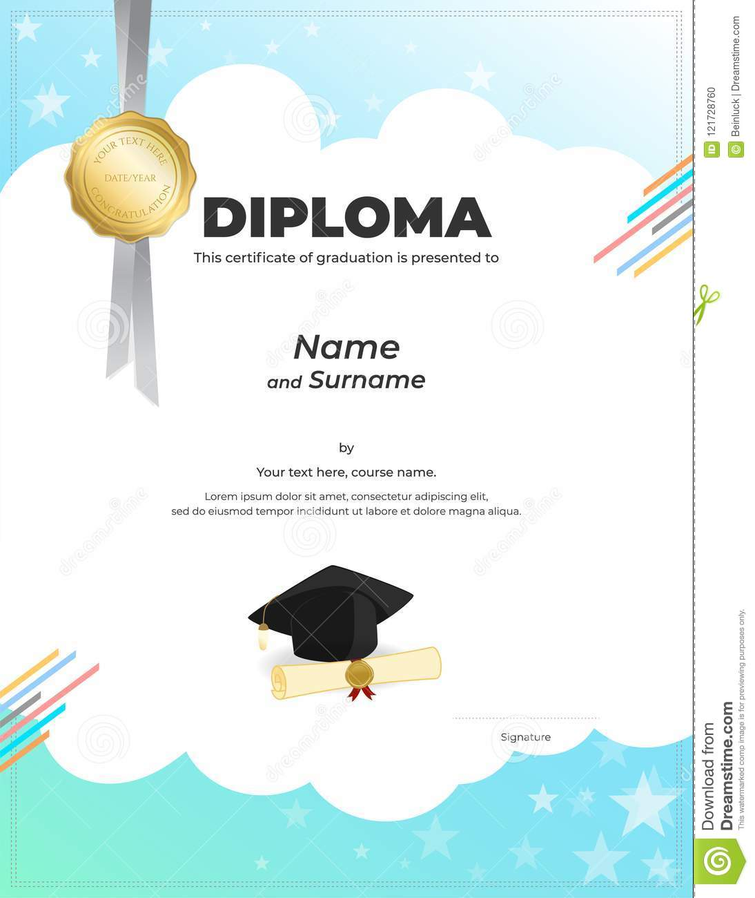 Graduation Diploma Template from thumbs.dreamstime.com