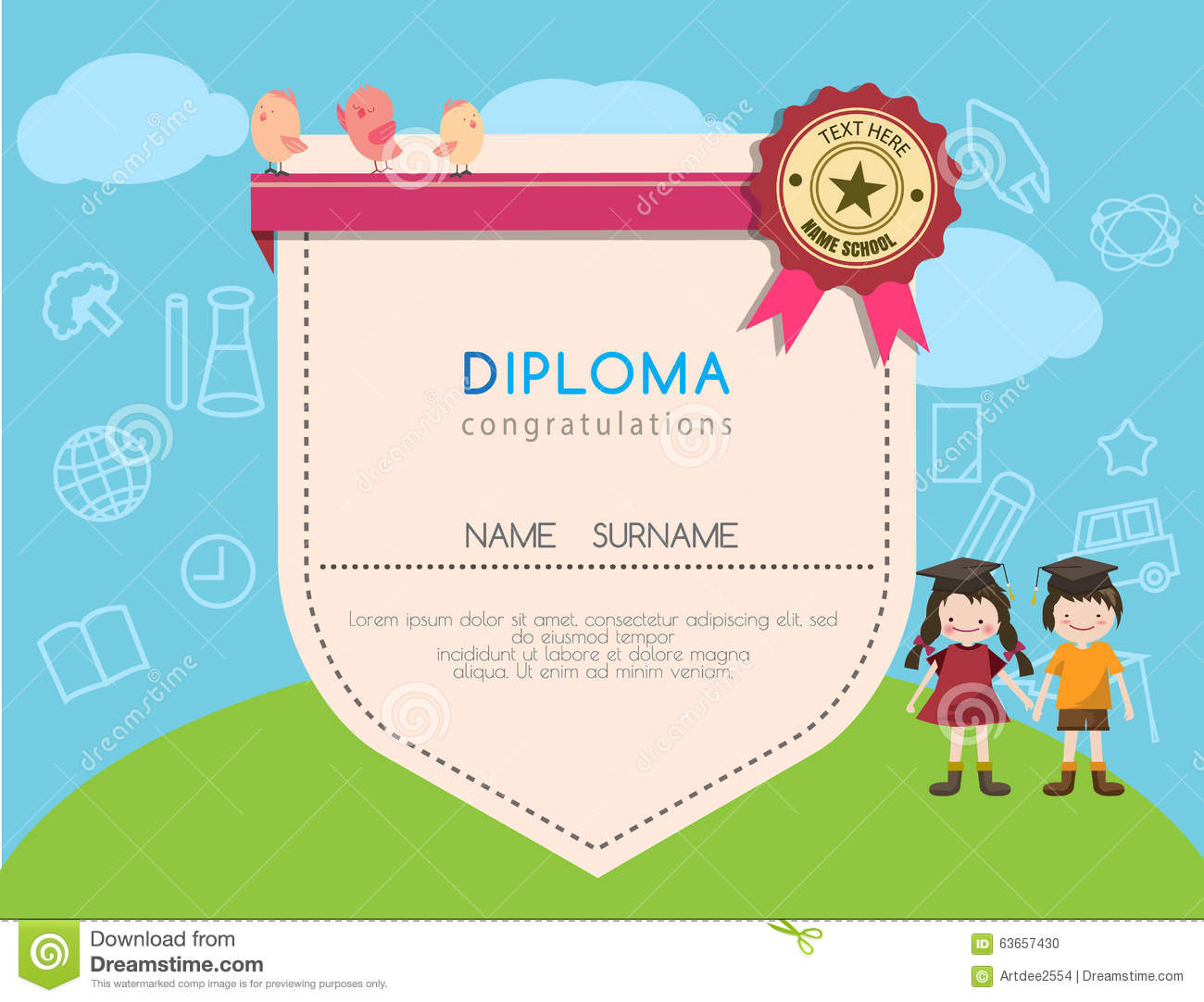 graduation certificate for kids