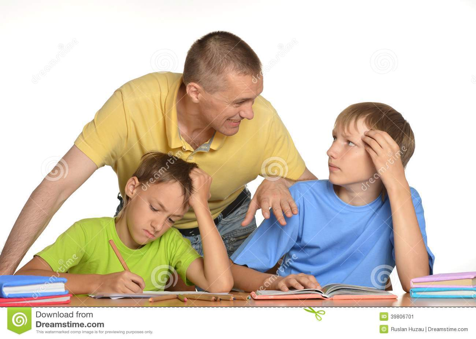 Statistics kids doing their homework