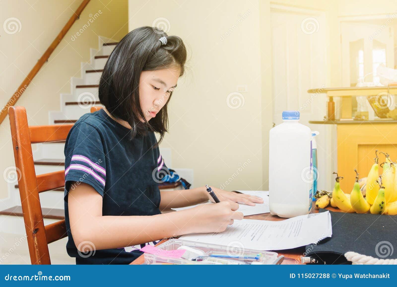 doing homework at home