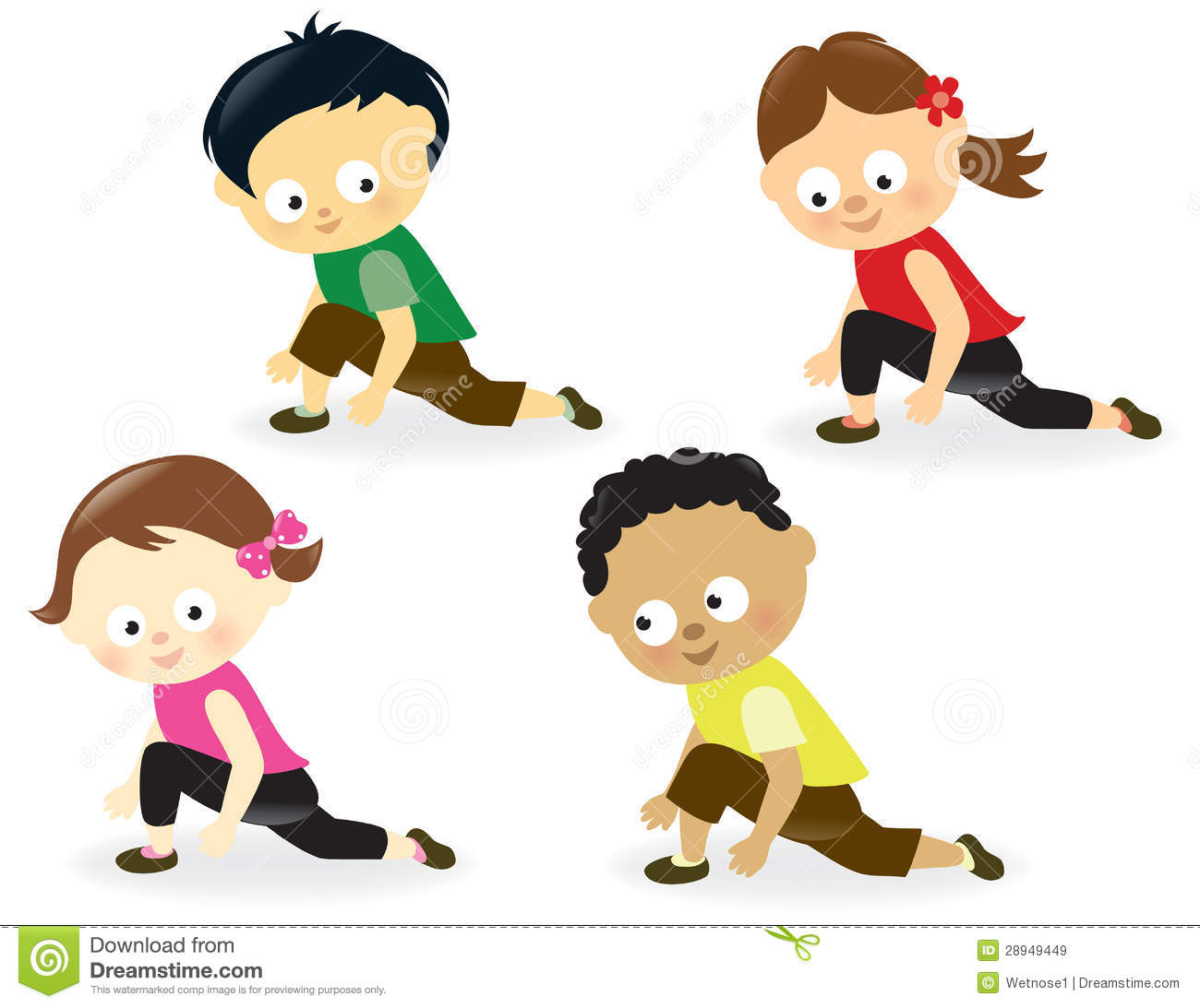 Kids Doing Leg Stretches Royalty Free Stock Images - Image ...