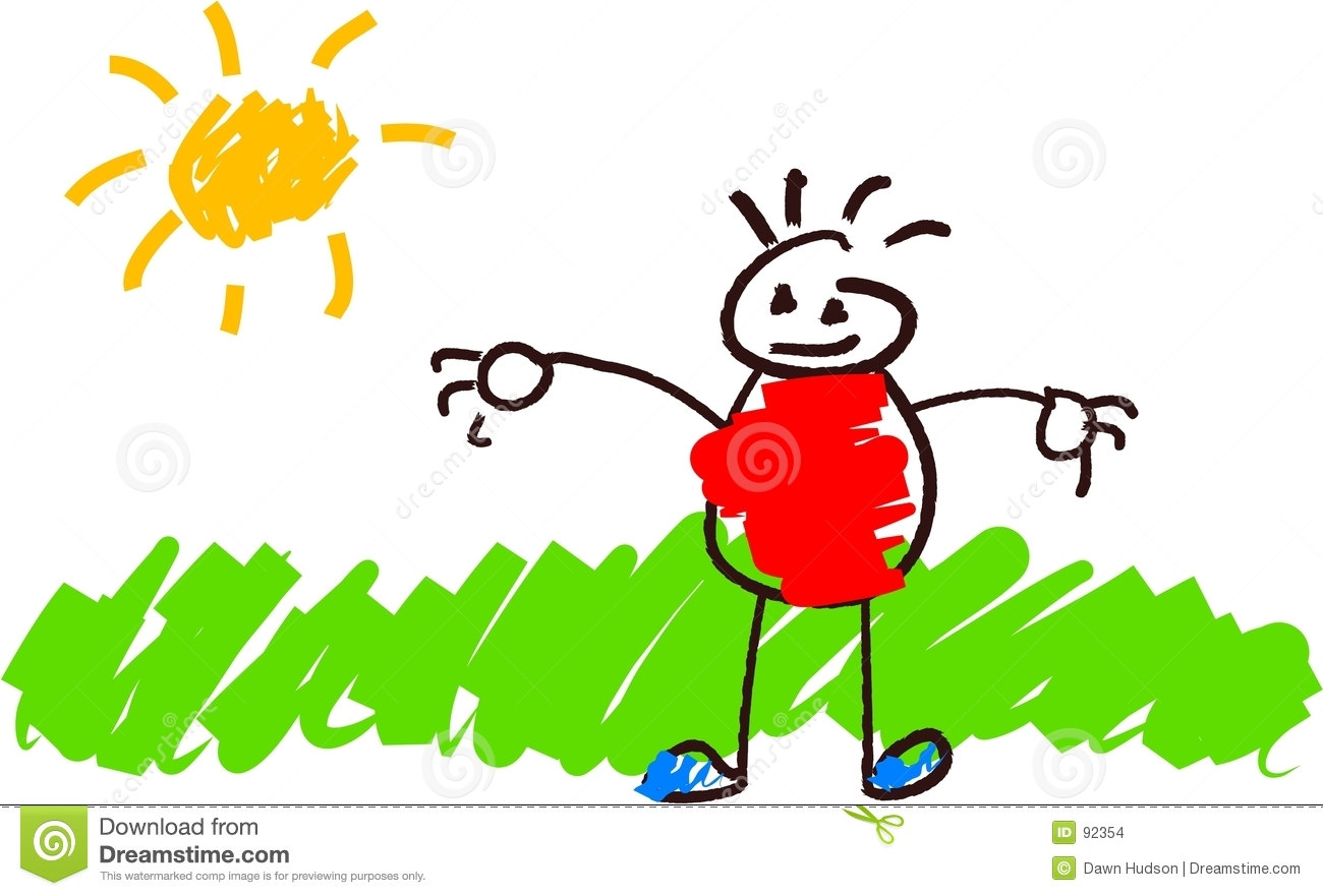 Kids Drawing Stock Images Image 92354