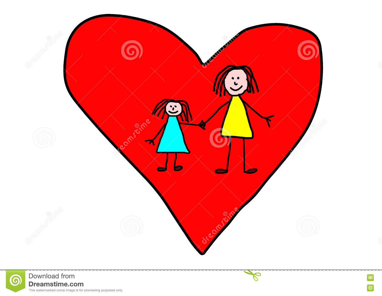 Kids drawing mother day greeting card stock illustration kids drawing mother day greeting card kristyandbryce Choice Image