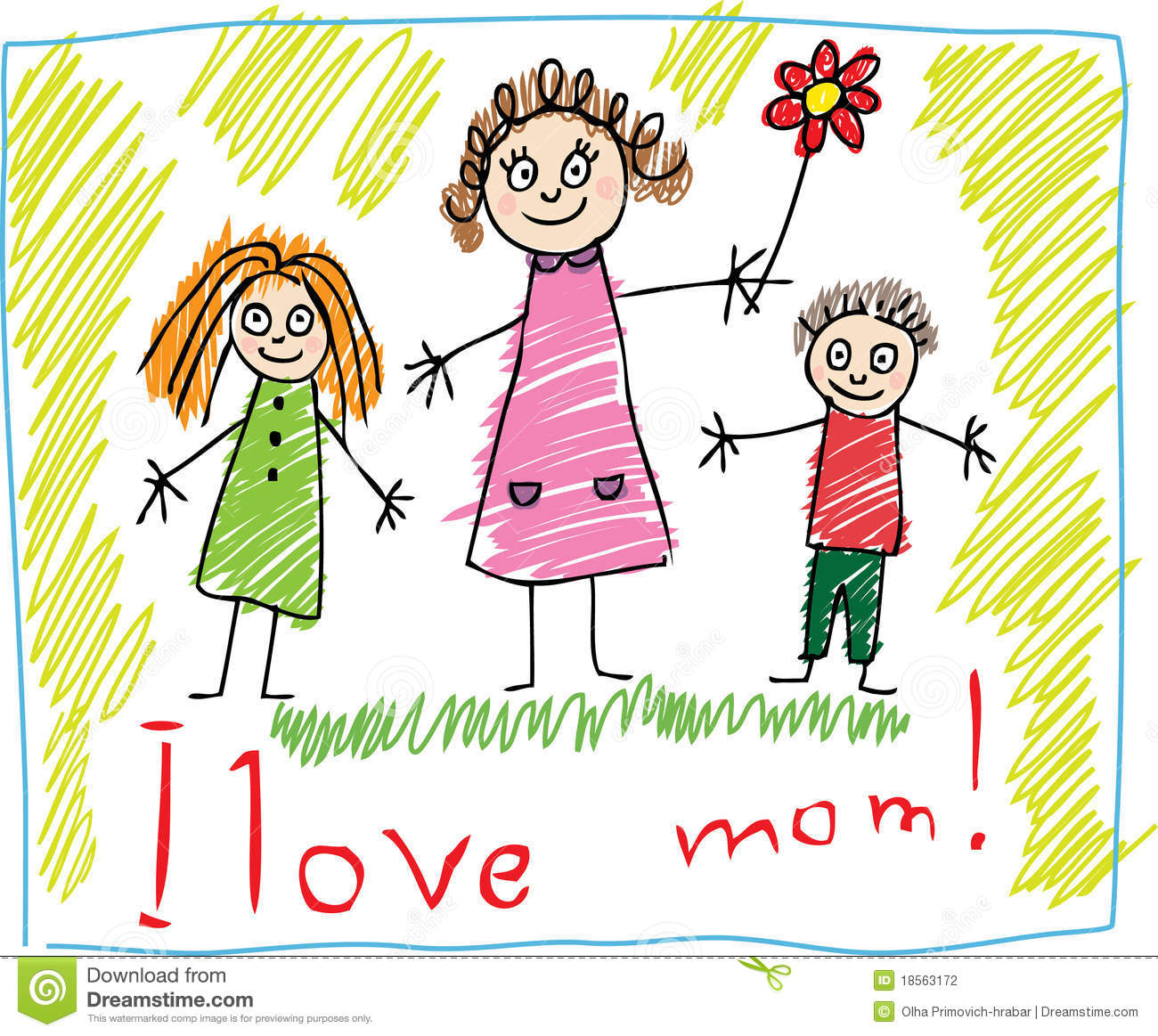 Kids Drawing. The Mother s Day