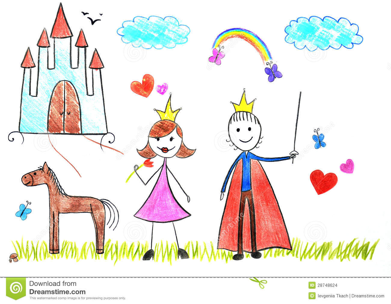 kids drawing princess and prince - Images For Kids Drawing
