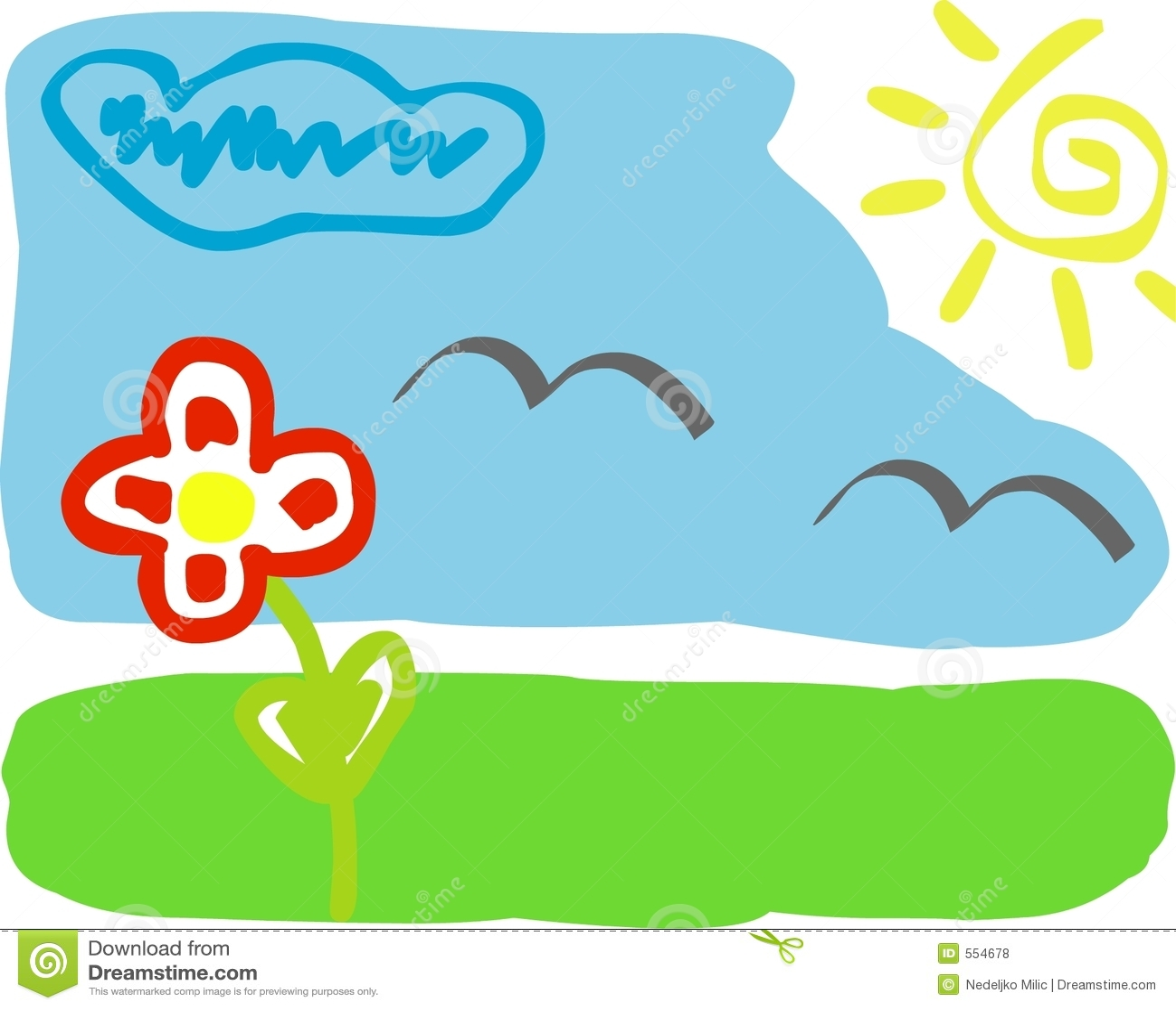 kids drawingspring - Spring Images For Kids