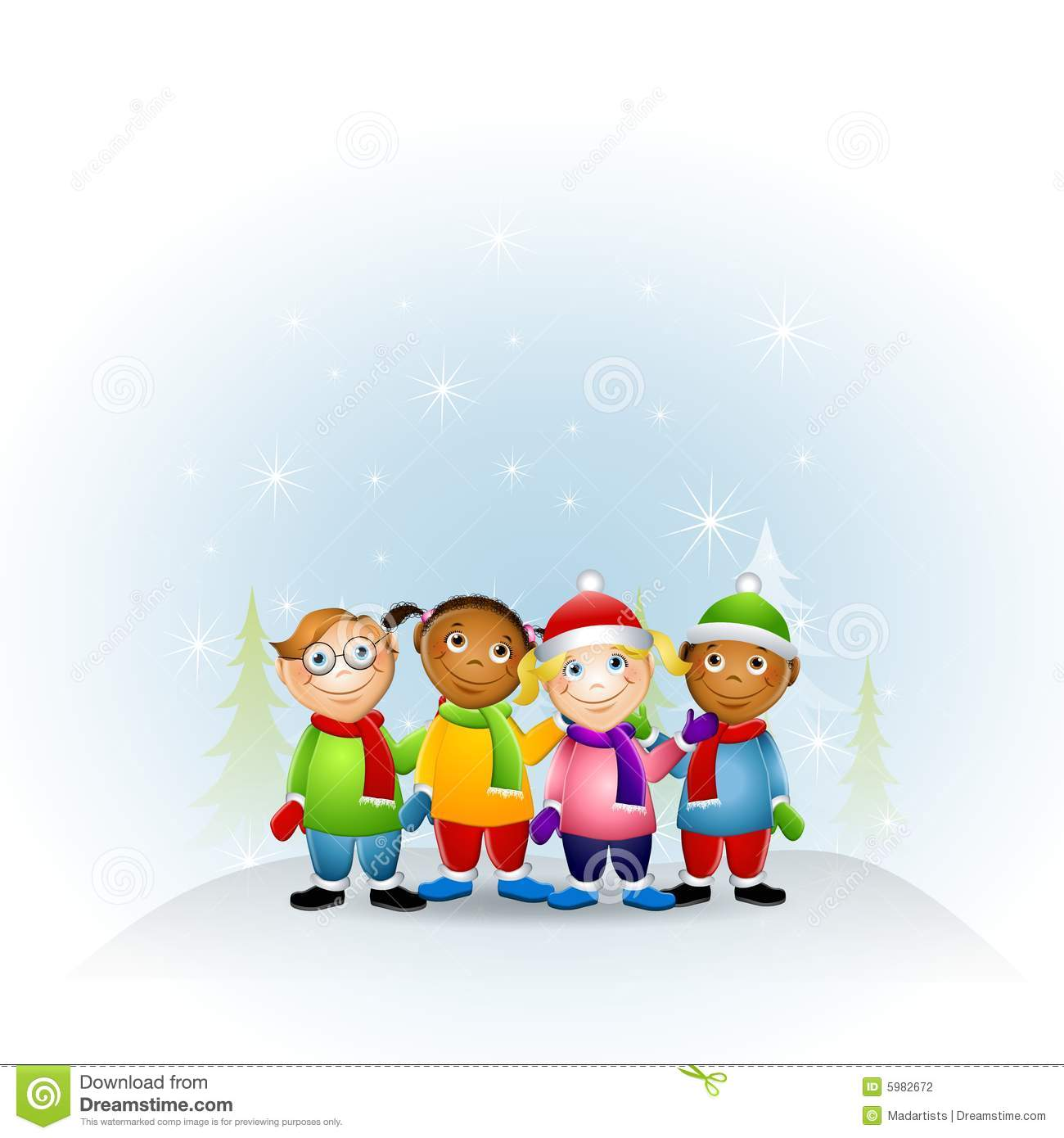 Kids Dressed For Winter 2 Stock Photography - Image: 5982672