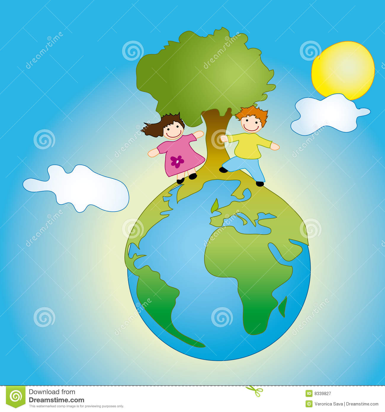 Kids On Earth Royalty Free Stock Photography Image 8339827