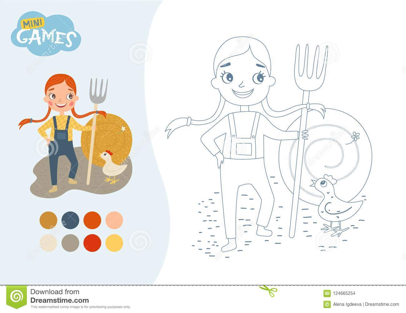 Kids educational game stock vector. Illustration of happy ...