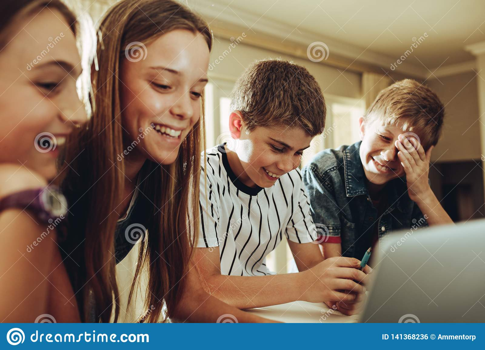 Kids enjoy learning with the help of technology