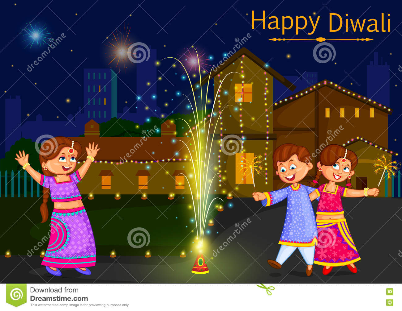 Diwali Stock Illustrations – 14,727 Diwali Stock Illustrations ... for Deepavali Celebration Clipart  186ref