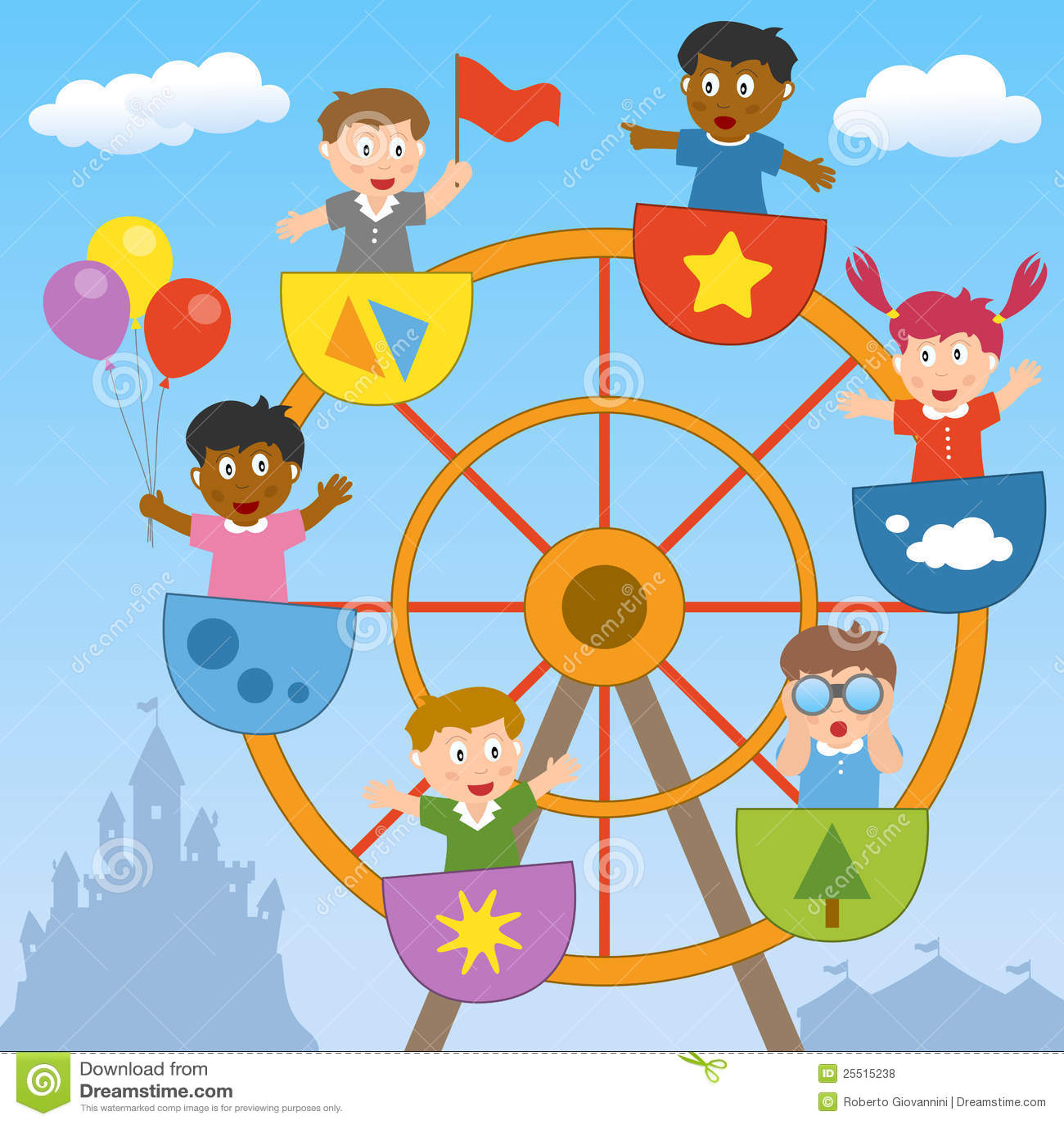 Cartoon Ferris Wheel Pictures for Kids