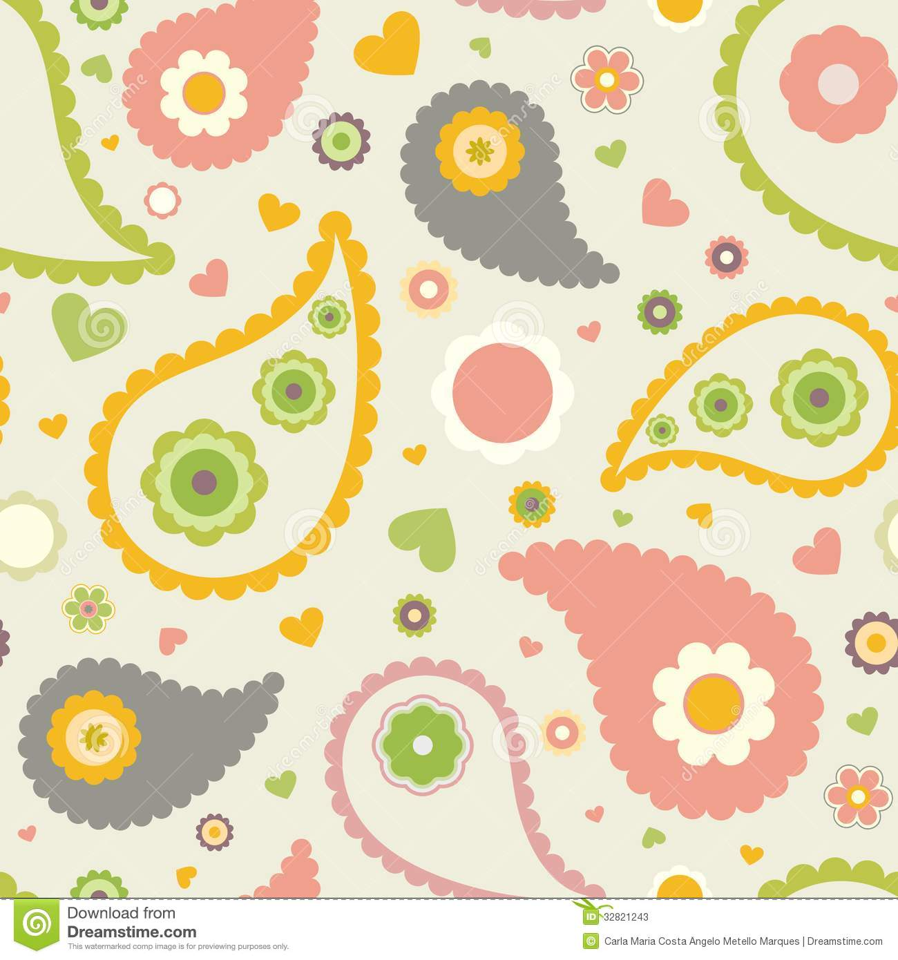 Kids floral pattern stock vector image of fabric craft for Childrens patterned fabric