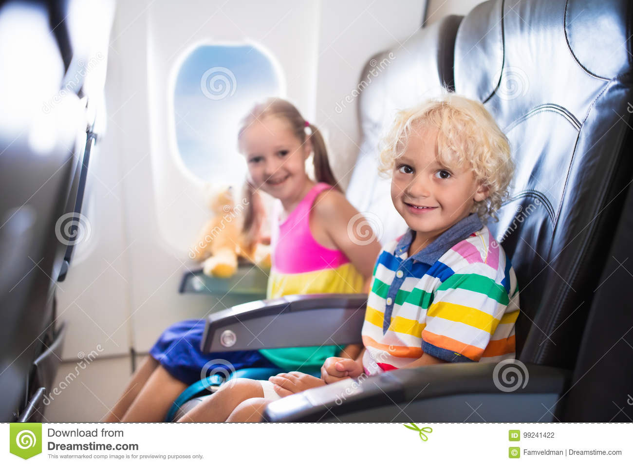 Super Kids Flying Airplane Fligh With Children Stock Photo Theyellowbook Wood Chair Design Ideas Theyellowbookinfo