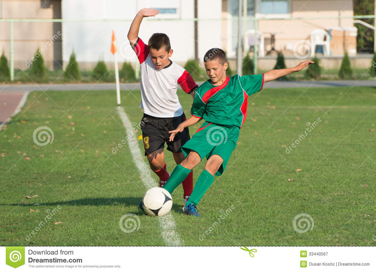 Kids Football Match Royalty Free Stock Photography - Image ...