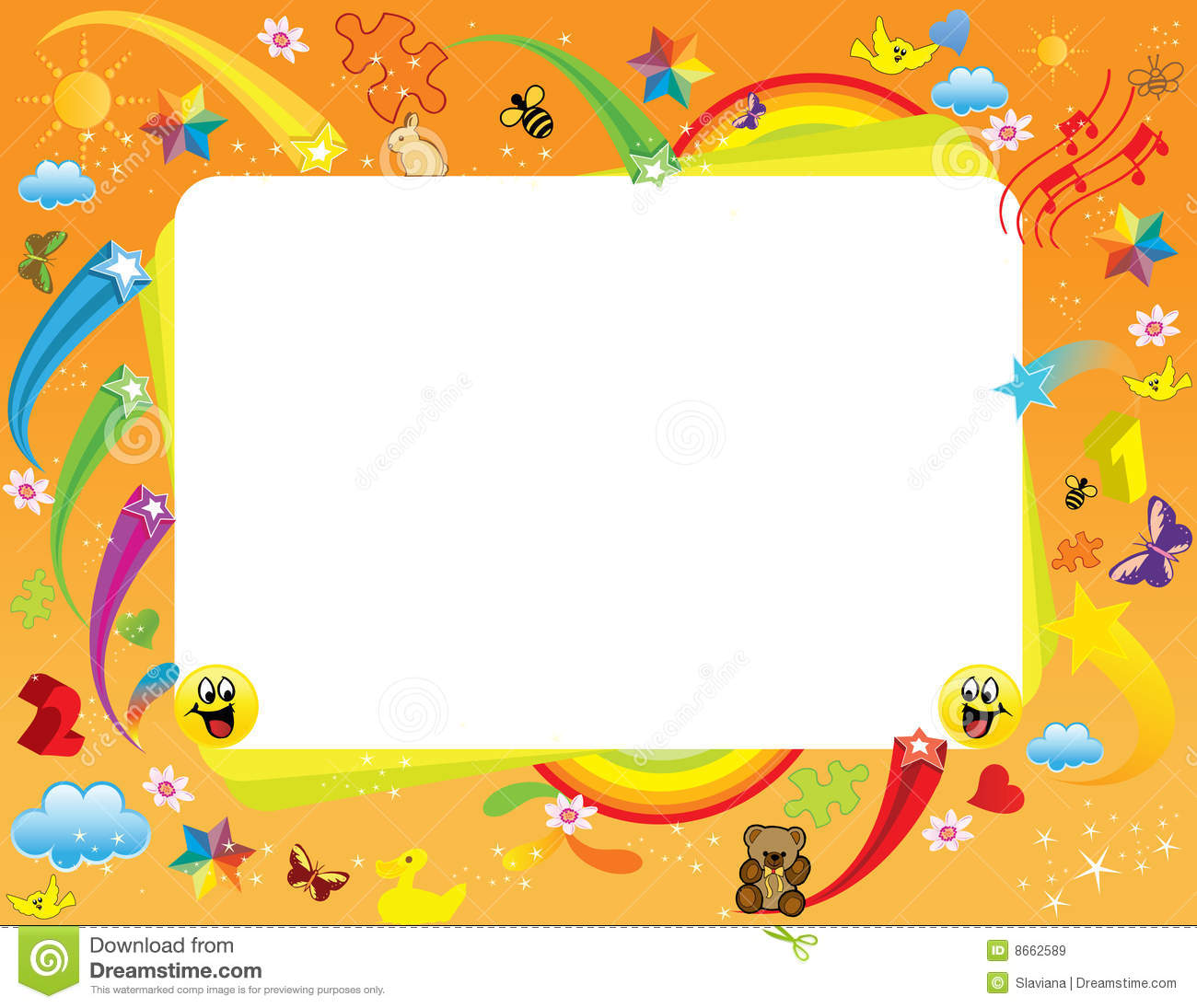 Fun Frame Stock Vector Illustration Of Icon Colored