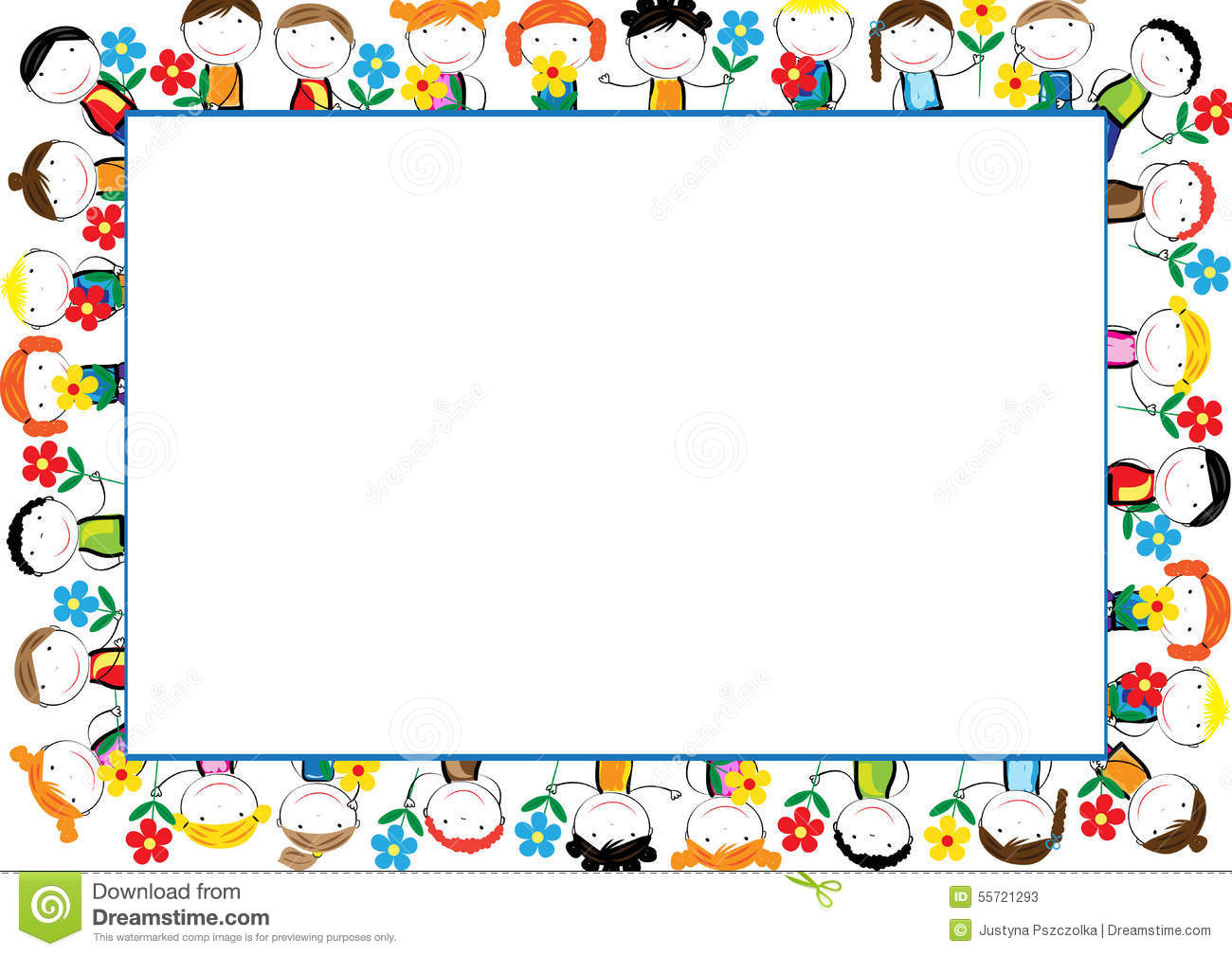Kids Frame Stock Vector Image 55721293
