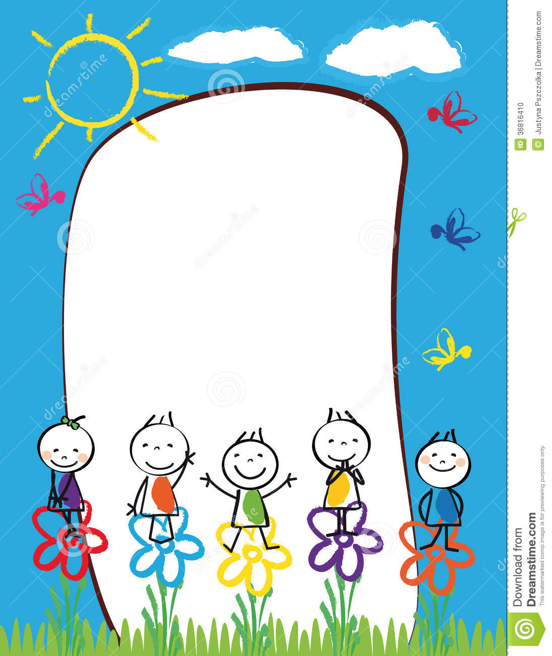 Kids Frame Stock Vector Image Of Icon Border Cute