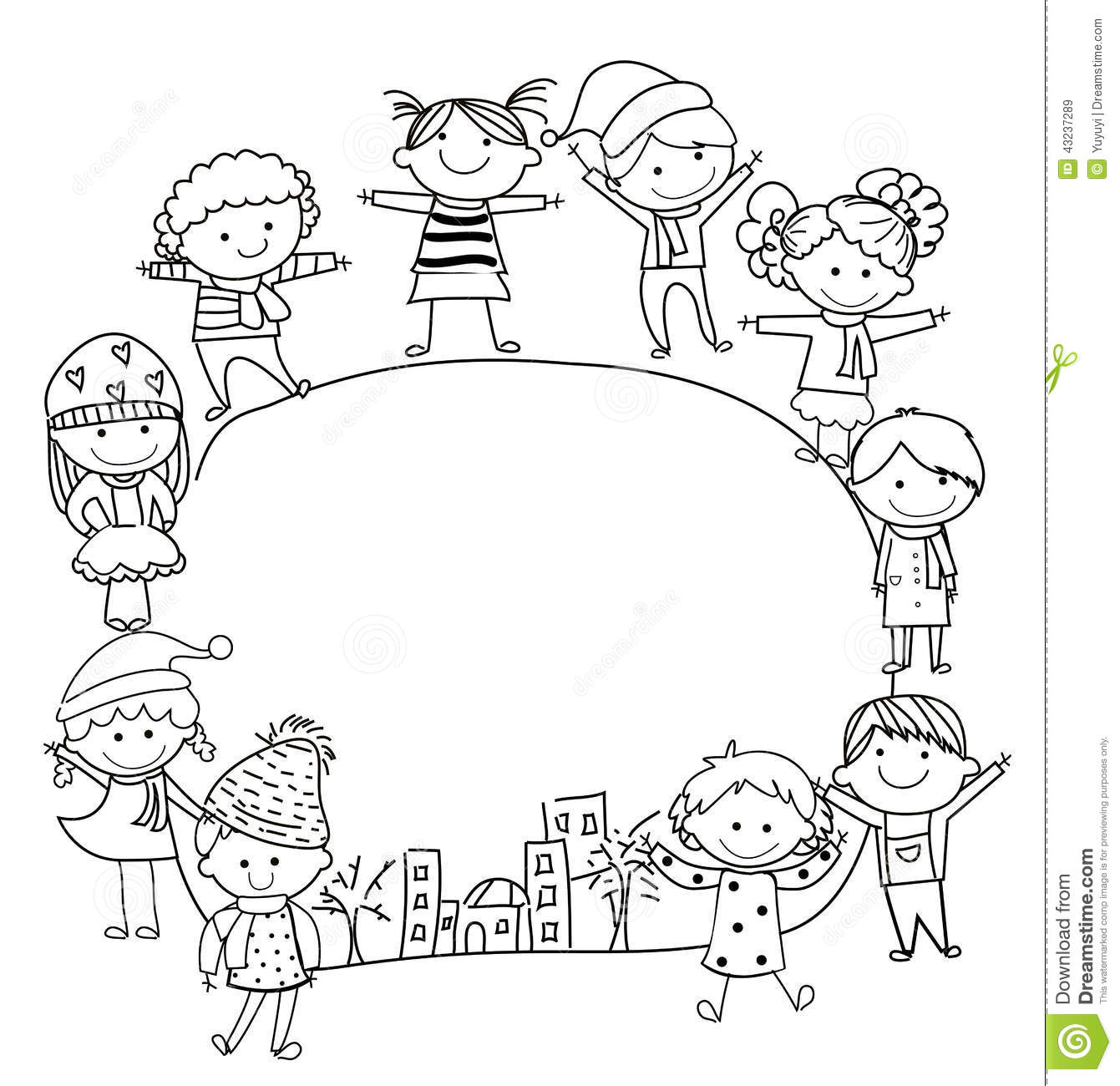 Kids and frame stock vector. Illustration of baby, face ...