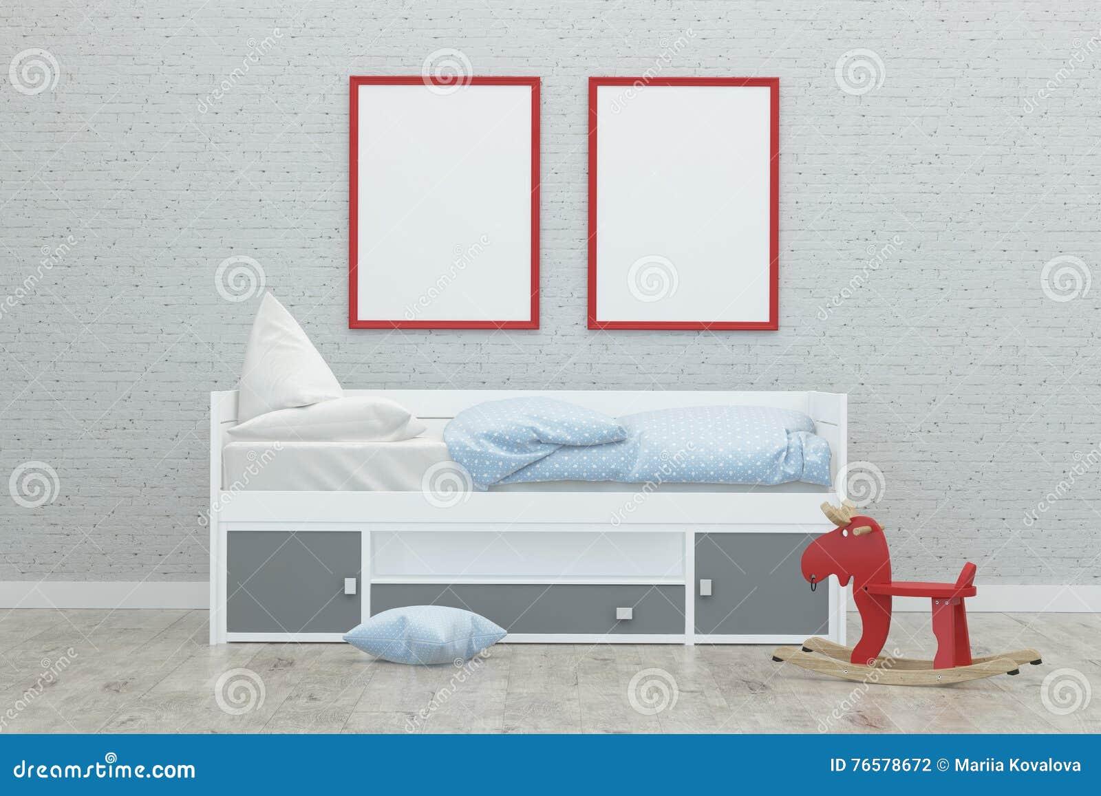 Exterior: Kids Game Room Interior 3d Rendering Image Stock