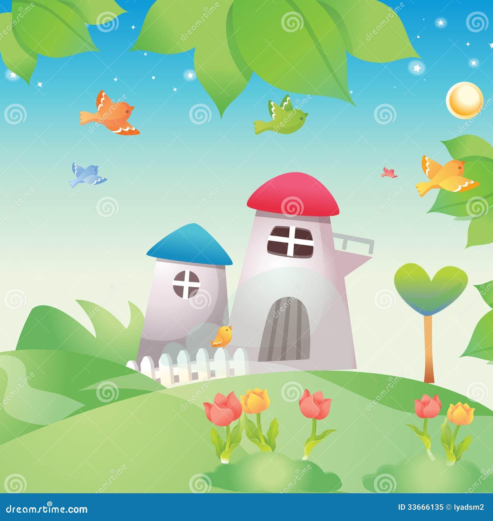Beautiful garden cartoon - Beautiful Cartoon Garden